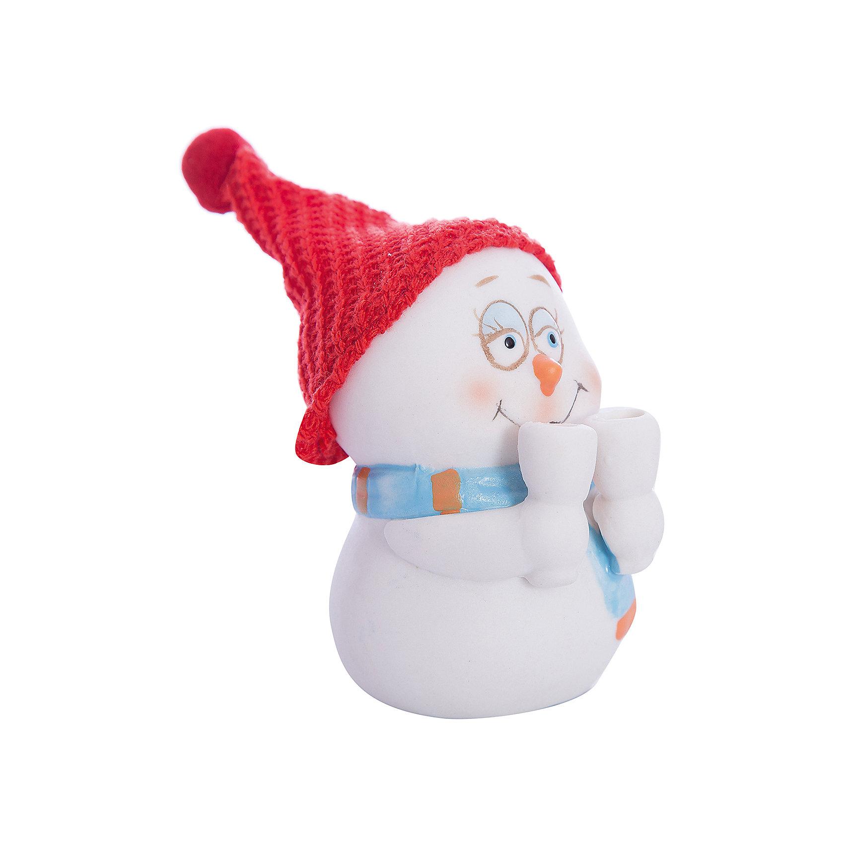 Фигурка Снеговик с бокалами 8 см, керамикаВсё для праздника<br>Новогодняя фигурка снеговика Снеговик с бокалами арт.38338 (8см, керамика)<br><br>Ширина мм: 70<br>Глубина мм: 60<br>Высота мм: 80<br>Вес г: 133<br>Возраст от месяцев: 60<br>Возраст до месяцев: 600<br>Пол: Унисекс<br>Возраст: Детский<br>SKU: 5144556