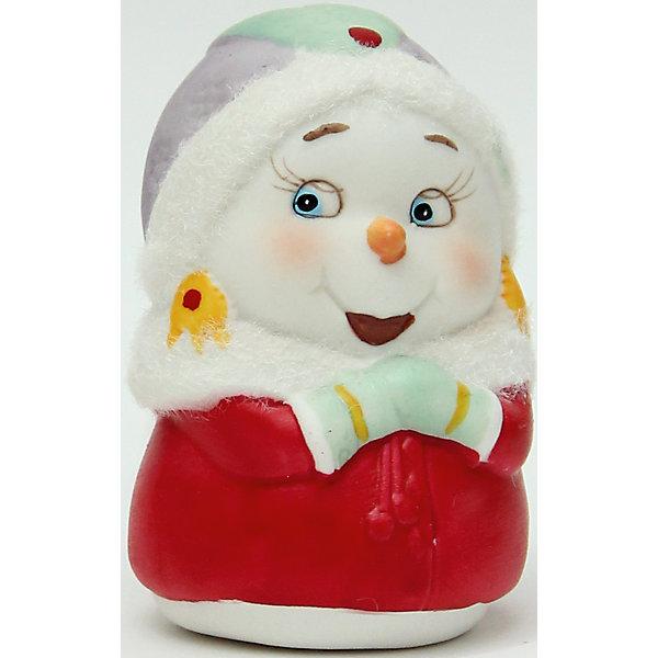 Фигурка Снеговичка 8 см, керамикаНовогодние сувениры<br>Новогодняя фигурка снеговика Снеговик-девушка арт.38341 (8см, керамика)<br><br>Ширина мм: 60<br>Глубина мм: 60<br>Высота мм: 80<br>Вес г: 124<br>Возраст от месяцев: 60<br>Возраст до месяцев: 600<br>Пол: Унисекс<br>Возраст: Детский<br>SKU: 5144559