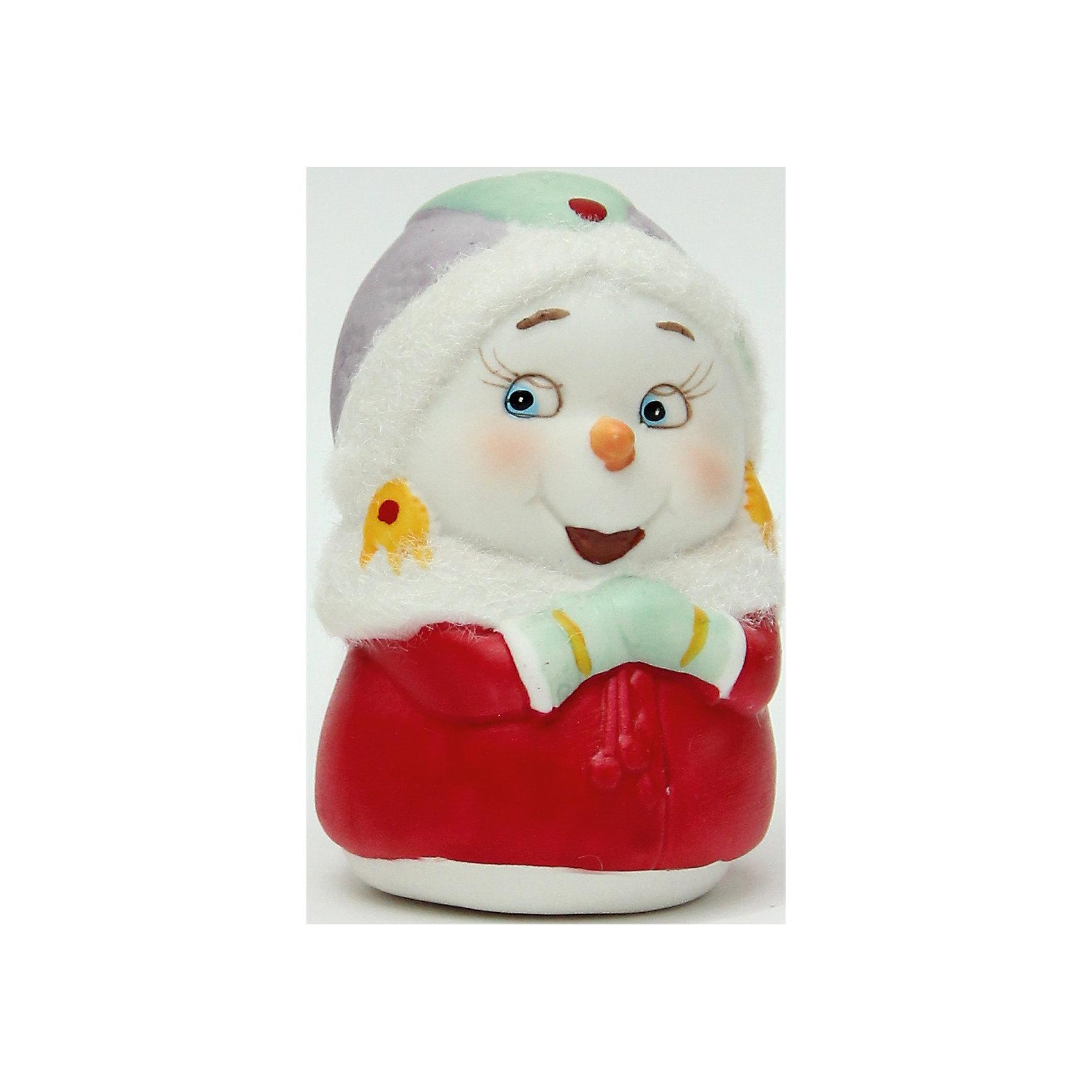 Фигурка Снеговичка 8 см, керамикаВсё для праздника<br>Новогодняя фигурка снеговика Снеговик-девушка арт.38341 (8см, керамика)<br><br>Ширина мм: 60<br>Глубина мм: 60<br>Высота мм: 80<br>Вес г: 124<br>Возраст от месяцев: 60<br>Возраст до месяцев: 600<br>Пол: Унисекс<br>Возраст: Детский<br>SKU: 5144559