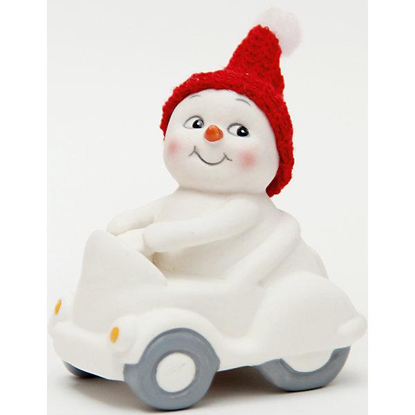 Фигурка Снеговик в машине 8 см, керамикаНовогодние сувениры<br>Новогодняя фигурка снеговика Снеговик в машине  арт.41747 (8см, керамика) / 8 арт.41747<br><br>Ширина мм: 55<br>Глубина мм: 75<br>Высота мм: 80<br>Вес г: 133<br>Возраст от месяцев: 60<br>Возраст до месяцев: 600<br>Пол: Унисекс<br>Возраст: Детский<br>SKU: 5144564