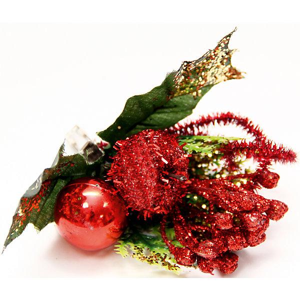 Украшение Букет красный с золотым на клипсеЁлочные игрушки<br>Украшение новогоднее Букет Красно-Золотой арт.42493 из пвх на клипсе / 12x9<br><br>Ширина мм: 120<br>Глубина мм: 90<br>Высота мм: 10<br>Вес г: 9<br>Возраст от месяцев: 60<br>Возраст до месяцев: 600<br>Пол: Унисекс<br>Возраст: Детский<br>SKU: 5144579