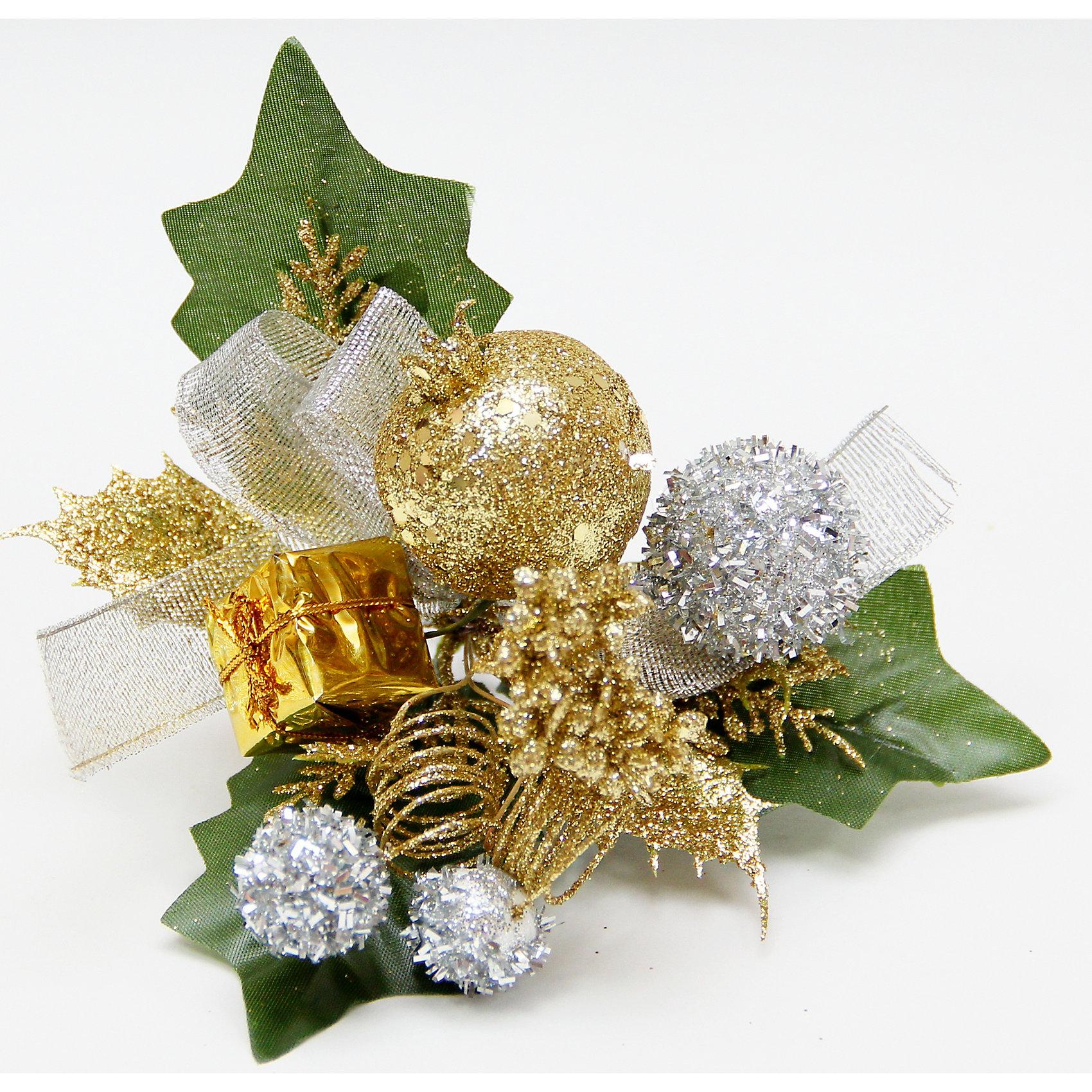 Украшение новогоднее Ягоды золото с серебром из пвх на клипсеУкрашение новогоднее Ягоды золото-серебряные арт.42506 из пвх на клипсе / 15x15<br><br>Ширина мм: 150<br>Глубина мм: 150<br>Высота мм: 10<br>Вес г: 2<br>Возраст от месяцев: 60<br>Возраст до месяцев: 600<br>Пол: Унисекс<br>Возраст: Детский<br>SKU: 5144582