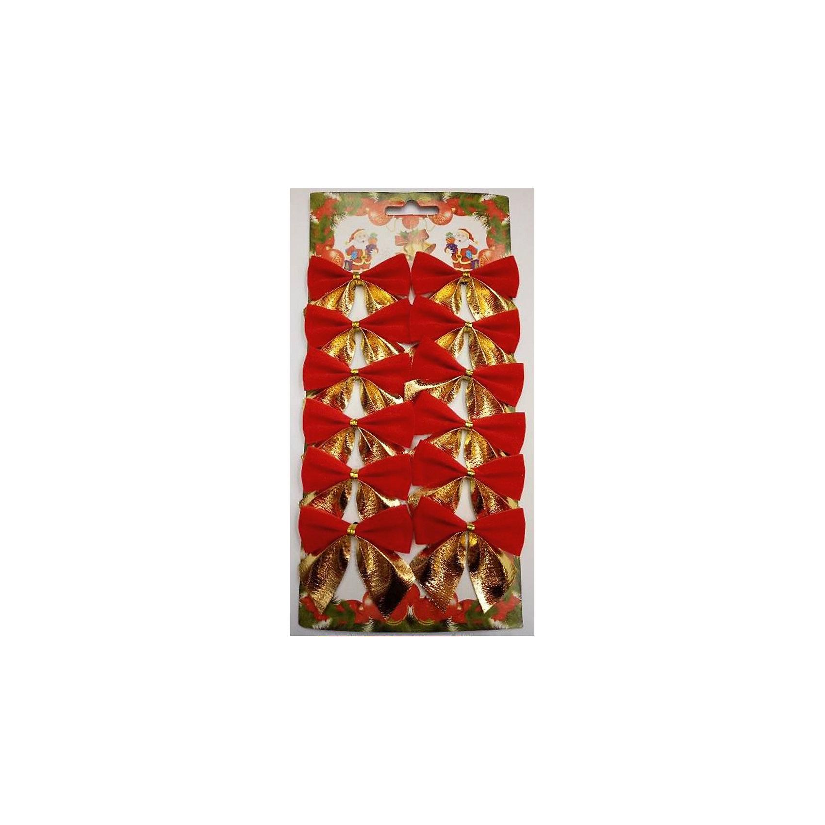 Новогоднее украшение Бант (красный с золотом)Всё для праздника<br>Украшение новогоднее БАНТ Красные с золотом арт.42766 / 5х5<br><br>Ширина мм: 130<br>Глубина мм: 280<br>Высота мм: 5<br>Вес г: 23<br>Возраст от месяцев: 60<br>Возраст до месяцев: 600<br>Пол: Унисекс<br>Возраст: Детский<br>SKU: 5144588