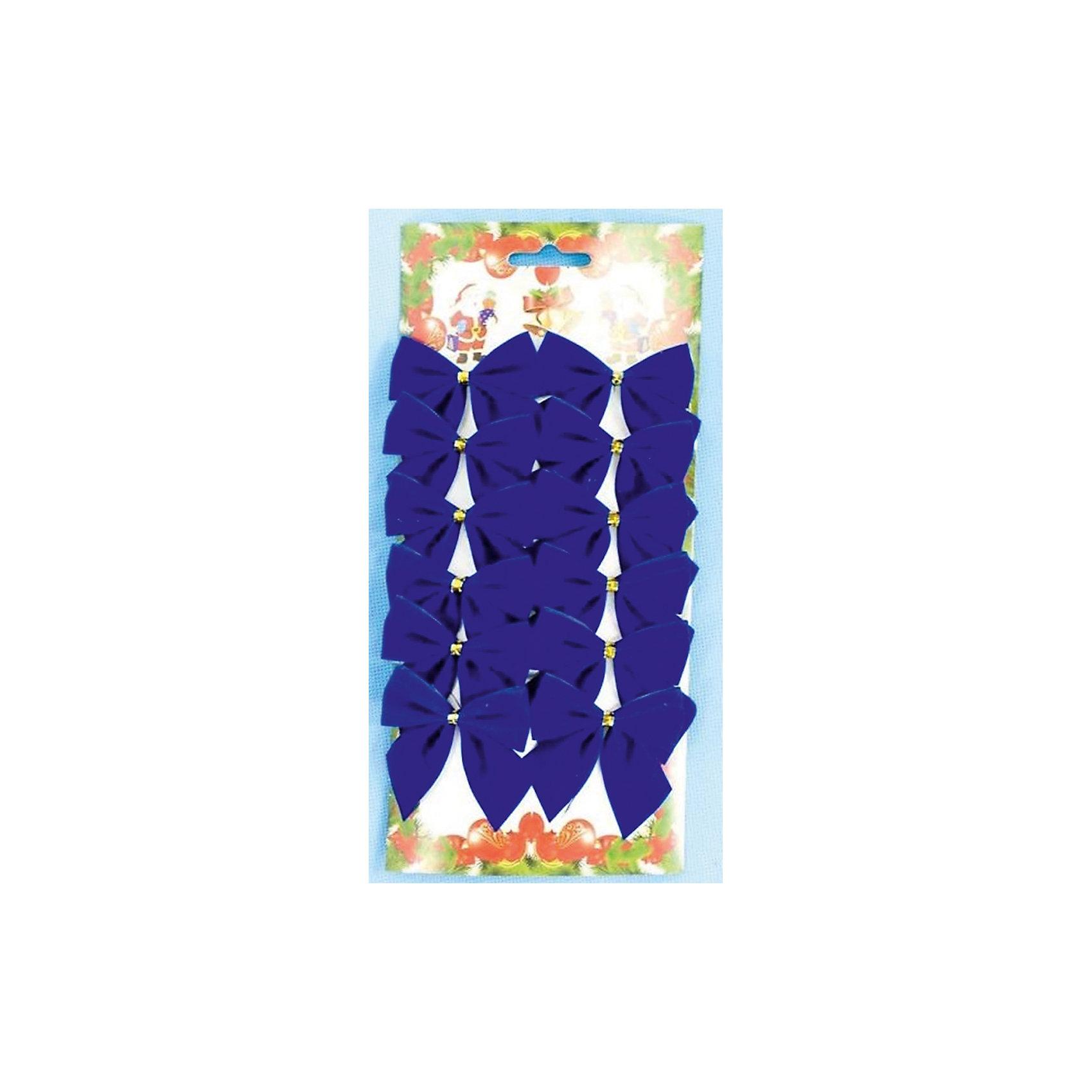 Феникс-Презент Новогоднее украшение Синий бант новогоднее оконное украшение феникс презент обезьянки