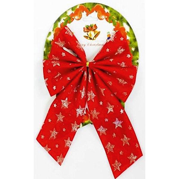 Новогоднее украшение Красный бант со звездамиЁлочные игрушки<br>Украшение новогоднее БАНТ Красный со звездами арт.42778 / 17х21<br><br>Ширина мм: 170<br>Глубина мм: 210<br>Высота мм: 5<br>Вес г: 30<br>Возраст от месяцев: 60<br>Возраст до месяцев: 600<br>Пол: Унисекс<br>Возраст: Детский<br>SKU: 5144591