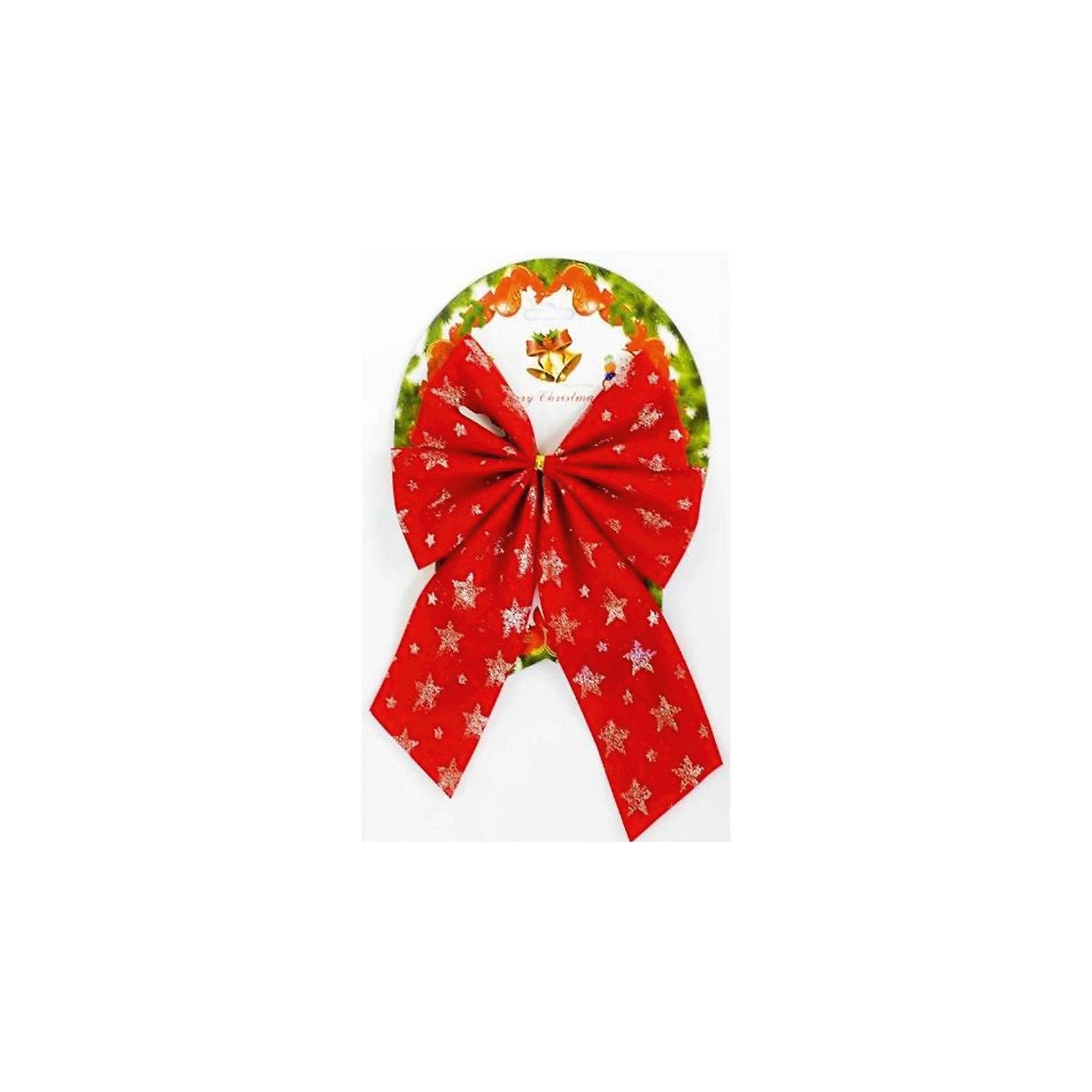 Новогоднее украшение Красный бант со звездамиВсё для праздника<br>Украшение новогоднее БАНТ Красный со звездами арт.42778 / 17х21<br><br>Ширина мм: 170<br>Глубина мм: 210<br>Высота мм: 5<br>Вес г: 30<br>Возраст от месяцев: 60<br>Возраст до месяцев: 600<br>Пол: Унисекс<br>Возраст: Детский<br>SKU: 5144591