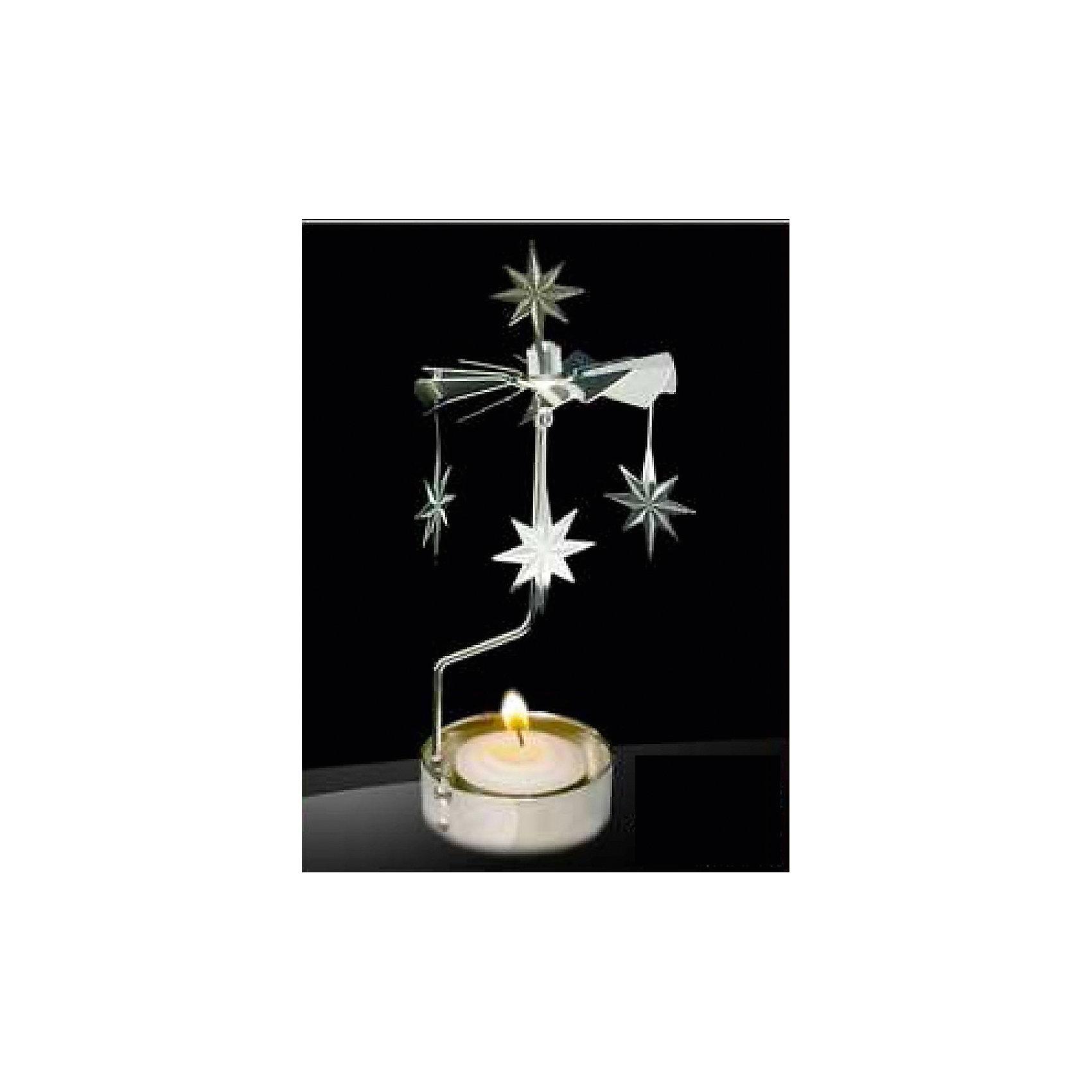 Феникс-Презент Новогодний декоративный подсвечник из черного окрашенного металла (6,5*16 см) декоративный магнит новогодний подарок 6 см х 5 см 31544