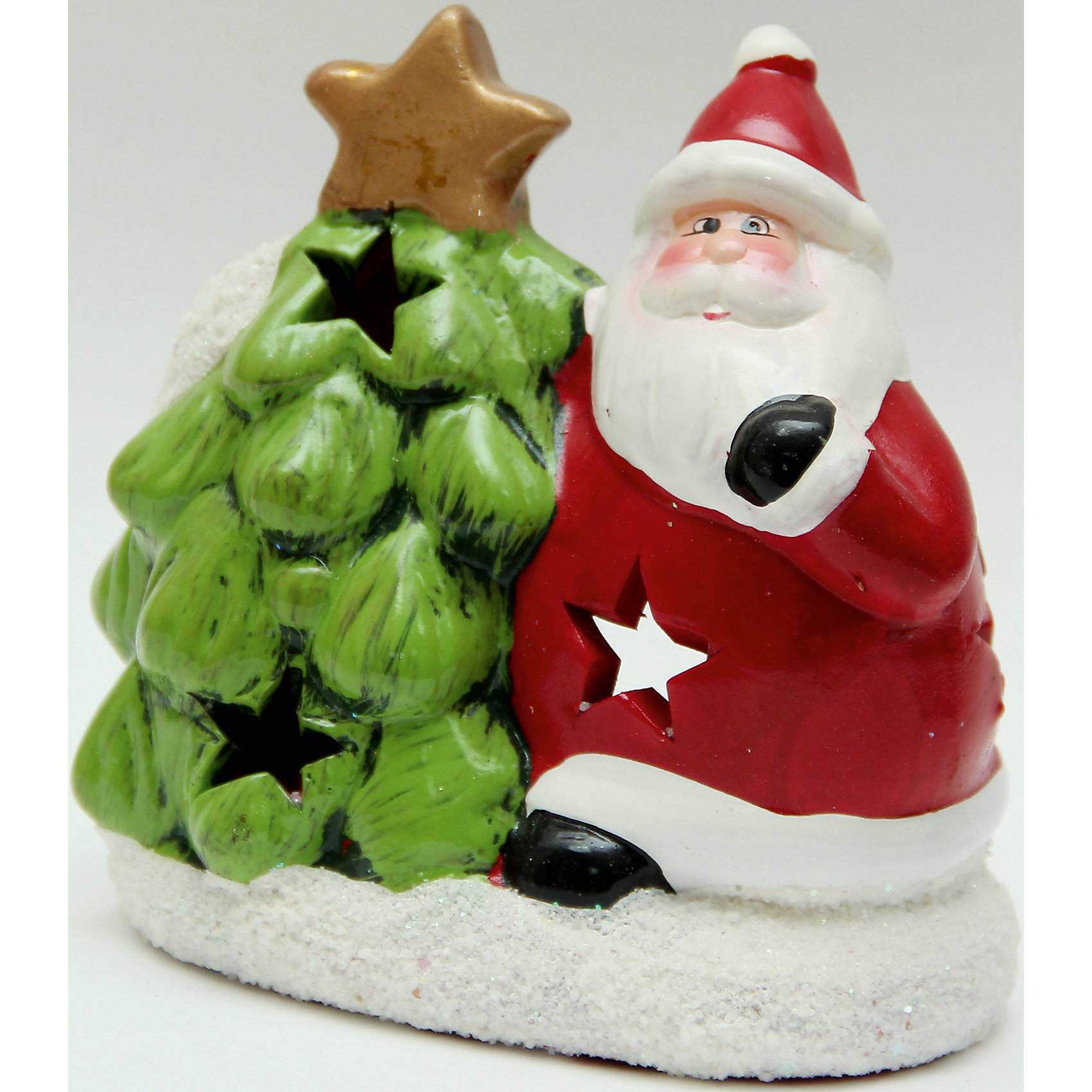 Подсвечник из керамики Дед Мороз с елочкой 12,5*7*14 смНовогодние свечи и подсвечники<br>Новогодний подсвечник из керамики Дед Мороз с елочкой, арт. 26140 (12,5*7*14см)<br><br>Ширина мм: 125<br>Глубина мм: 70<br>Высота мм: 140<br>Вес г: 319<br>Возраст от месяцев: 60<br>Возраст до месяцев: 600<br>Пол: Унисекс<br>Возраст: Детский<br>SKU: 5144597