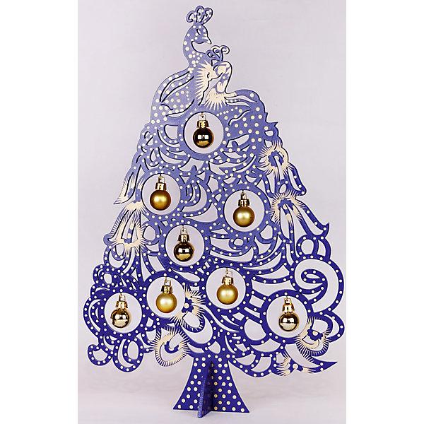 Новогодняя ель из МДФ Синяя Жар-птица (37 см)Искусственные ёлки<br>Характеристики товара:<br><br>• цвет: синий<br>• материал: МДФ, тополь<br>• размер: 37 см<br>• на подставке<br>• декоративная<br>• сувенир/украшение<br>• страна изготовитель: Китай<br><br>Новогодний праздник невозможен без украшений! Эта симпатичная фигурка в виде ёлочки станет отличным подарком близким, друзьям или сотрудникам и украсит помещение в новогодние дни. Изделие очень оригинально и нарядно смотрится!<br>Такие небольшие детали и создают полную праздничную картину наравне с большой ёлкой и мишурой! Изделие производится из качественных и проверенных материалов, которые безопасны для детей.<br><br>Изделие Новогодняя ель из МДФ Синяя Жар-птица (37 см) от бренда Феникс-Презент можно купить в нашем интернет-магазине.<br><br>Ширина мм: 370<br>Глубина мм: 30<br>Высота мм: 250<br>Вес г: 222<br>Возраст от месяцев: 60<br>Возраст до месяцев: 600<br>Пол: Унисекс<br>Возраст: Детский<br>SKU: 5144603