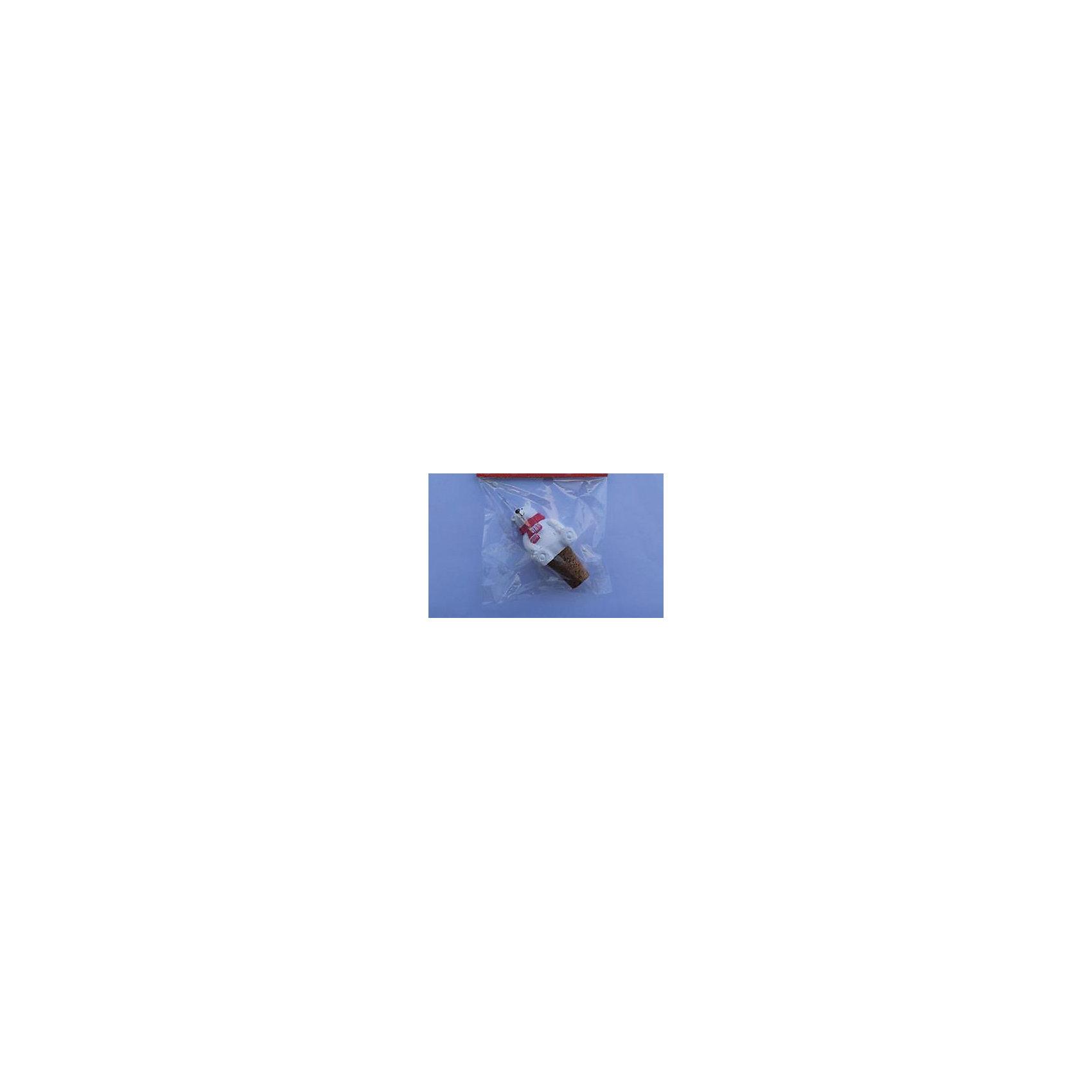Феникс-Презент Пробка новогодняя  Мишка в шарфике (13*9.5*3см) мишка тед из фильма третий лишний