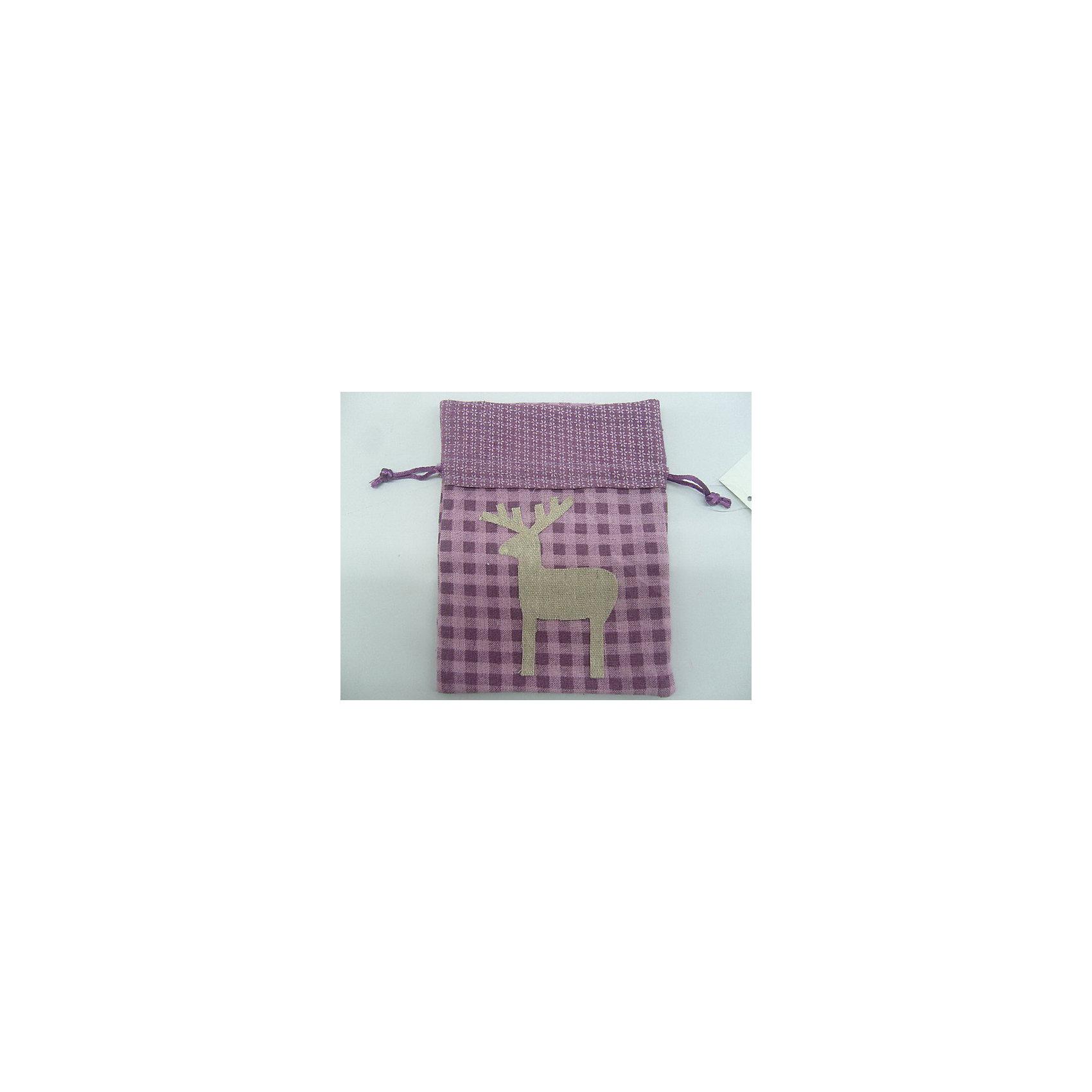 Феникс-Презент Новогоднее подвесное украшение из ткани Мешочек для подарков 17 см новогоднее подвесное украшение феникс презент кленовый лист