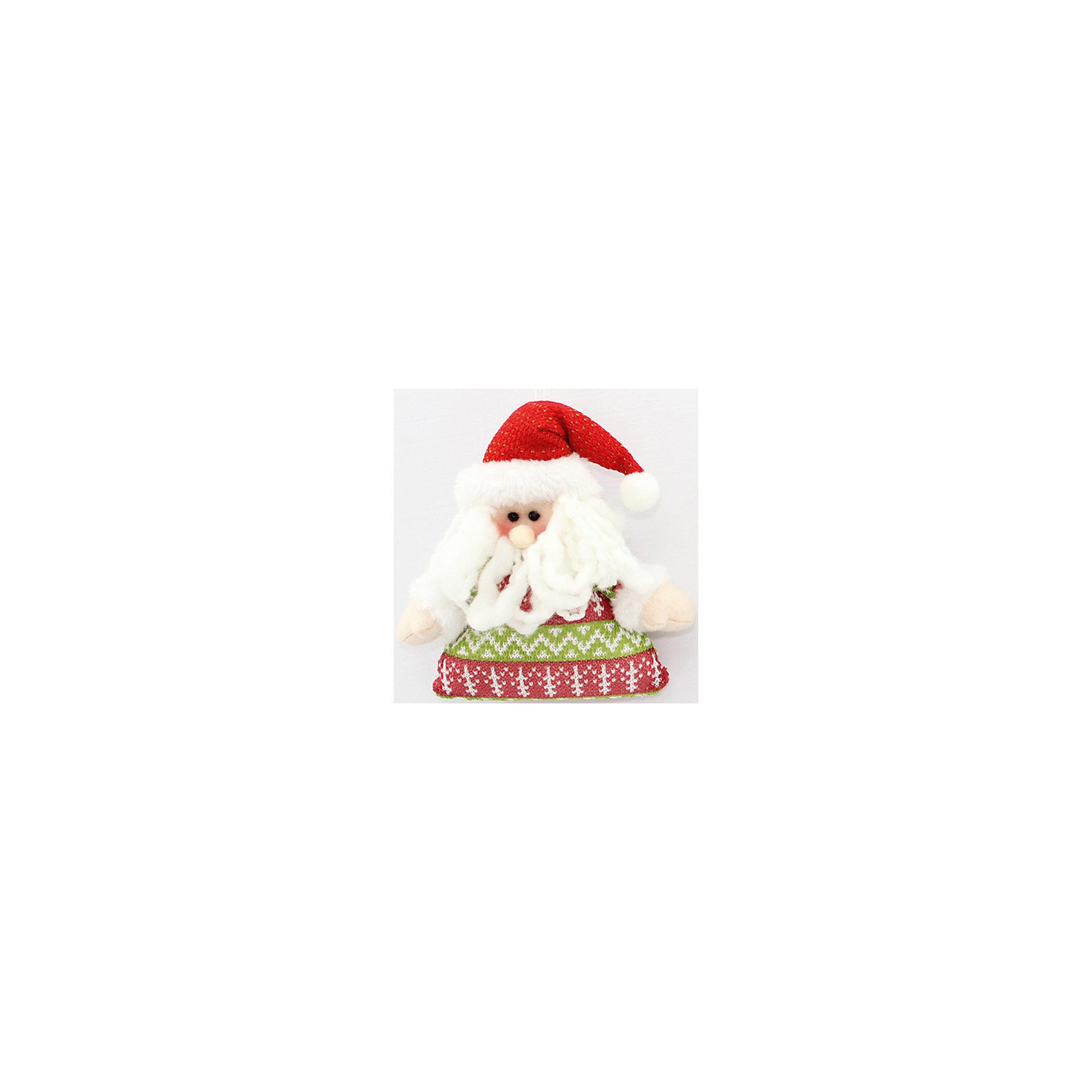 Феникс-Презент Новогоднее подвесное украшение Санта 15,3см новогоднее подвесное украшение феникс презент кленовый лист