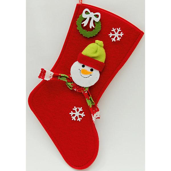 Украшение Сапожок со снеговиком и снежинками 16*26 смНовогодние носки<br>Новогоднее подвесн.украш. Сапожок со снеговиком и снежинкамиарт.38663 (16*26см, из синтетического фетра)<br><br>Ширина мм: 260<br>Глубина мм: 120<br>Высота мм: 10<br>Вес г: 50<br>Возраст от месяцев: 60<br>Возраст до месяцев: 600<br>Пол: Унисекс<br>Возраст: Детский<br>SKU: 5144629