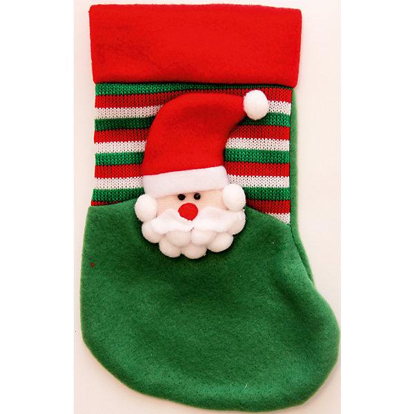 Подвесное украшение Зеленый Дед МорозНовогодние носки<br>Украшение новогоднее подвесное Зеленый Дед Мороз арт.42511 из полиэстра / 25х14<br><br>Ширина мм: 250<br>Глубина мм: 140<br>Высота мм: 10<br>Вес г: 33<br>Возраст от месяцев: 60<br>Возраст до месяцев: 600<br>Пол: Унисекс<br>Возраст: Детский<br>SKU: 5144630