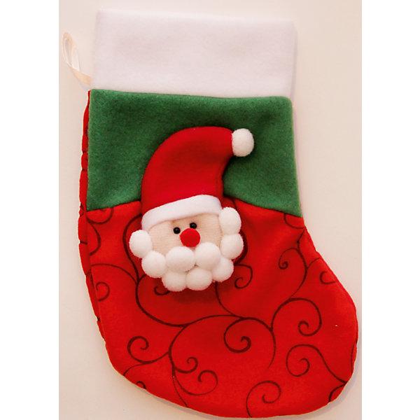 Новогоднее подвесное украшение Дед Мороз Узорный КрасныйНовогодние носки<br>Украшение новогоднее подвесное Дед Мороз Узорный Красный арт.42521 из полиэстра / 24x13,5<br><br>Ширина мм: 240<br>Глубина мм: 135<br>Высота мм: 10<br>Вес г: 33<br>Возраст от месяцев: 60<br>Возраст до месяцев: 600<br>Пол: Унисекс<br>Возраст: Детский<br>SKU: 5144631