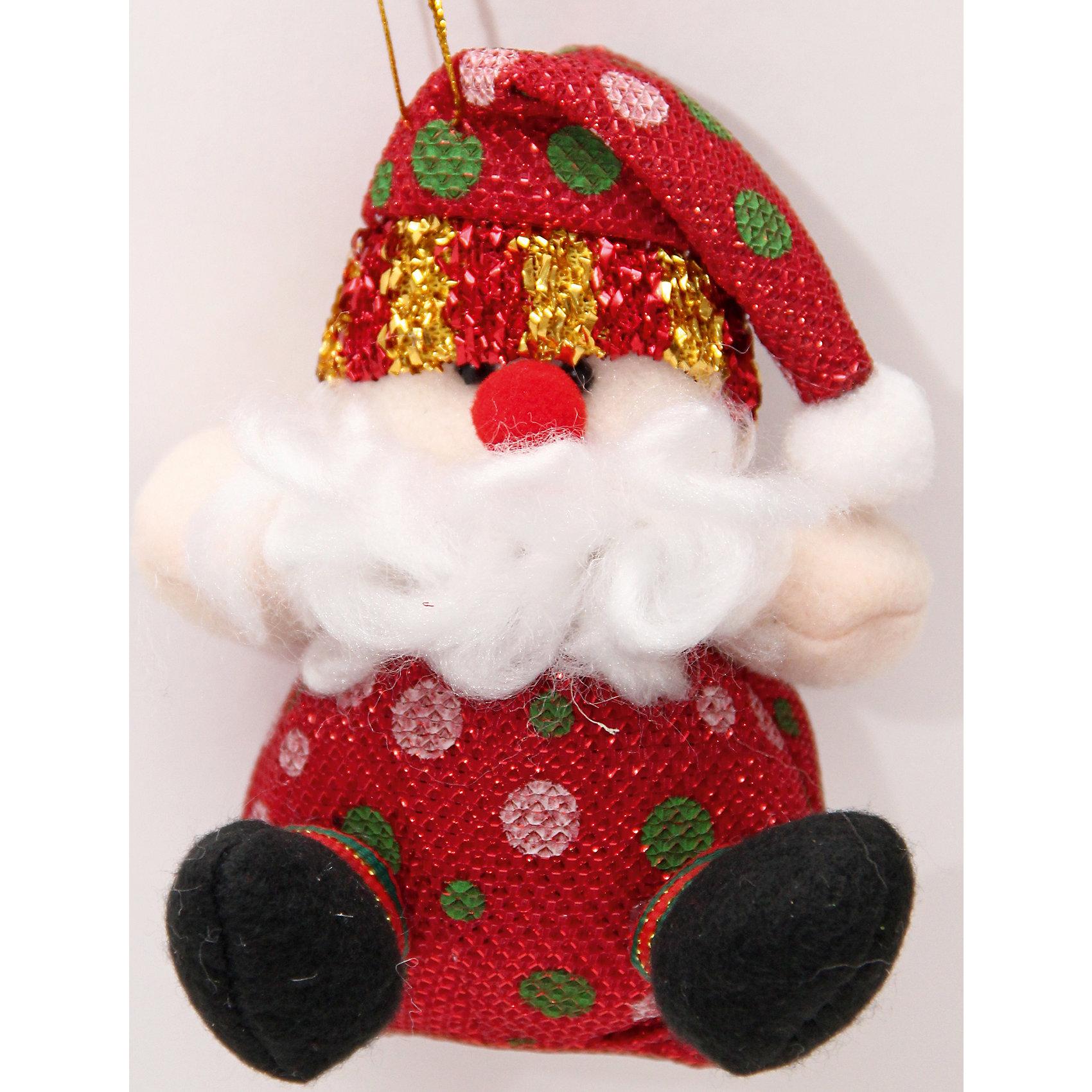 Феникс-Презент Новогоднее подвесное украшение  Дед Мороз в горошек новогоднее подвесное украшение собака ф21 1716
