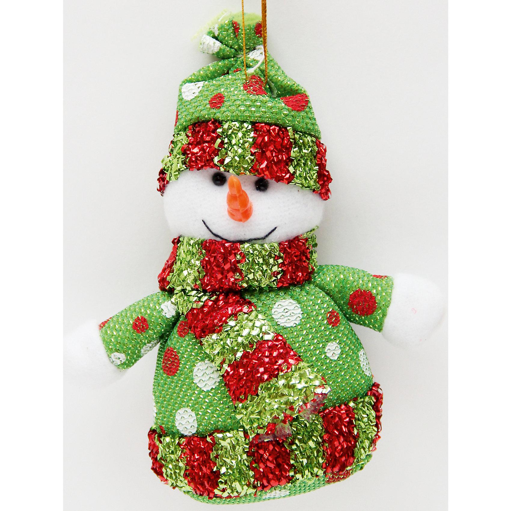 Украшение новогоднее подвесное Снеговик в зеленый горошекВсё для праздника<br>Украшение новогоднее подвесное Снеговик Зеленый Горошек арт.42531 из полиэстра / 13,5x7<br><br>Ширина мм: 140<br>Глубина мм: 70<br>Высота мм: 10<br>Вес г: 17<br>Возраст от месяцев: 60<br>Возраст до месяцев: 600<br>Пол: Унисекс<br>Возраст: Детский<br>SKU: 5144633