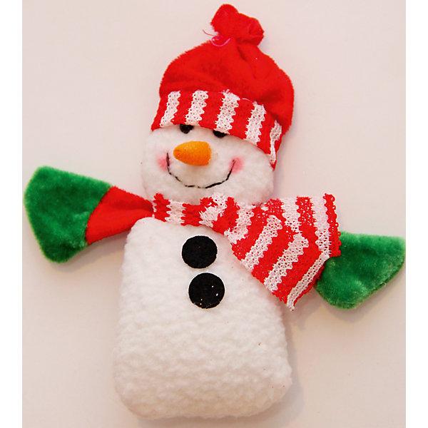 Украшение новогоднее подвесное Снеговик с шарфомЁлочные игрушки<br>Украшение новогоднее подвесное Снеговик с Шарфом арт.42533 из полиэстра / 15x8<br>Ширина мм: 150; Глубина мм: 80; Высота мм: 10; Вес г: 21; Возраст от месяцев: 60; Возраст до месяцев: 600; Пол: Унисекс; Возраст: Детский; SKU: 5144634;