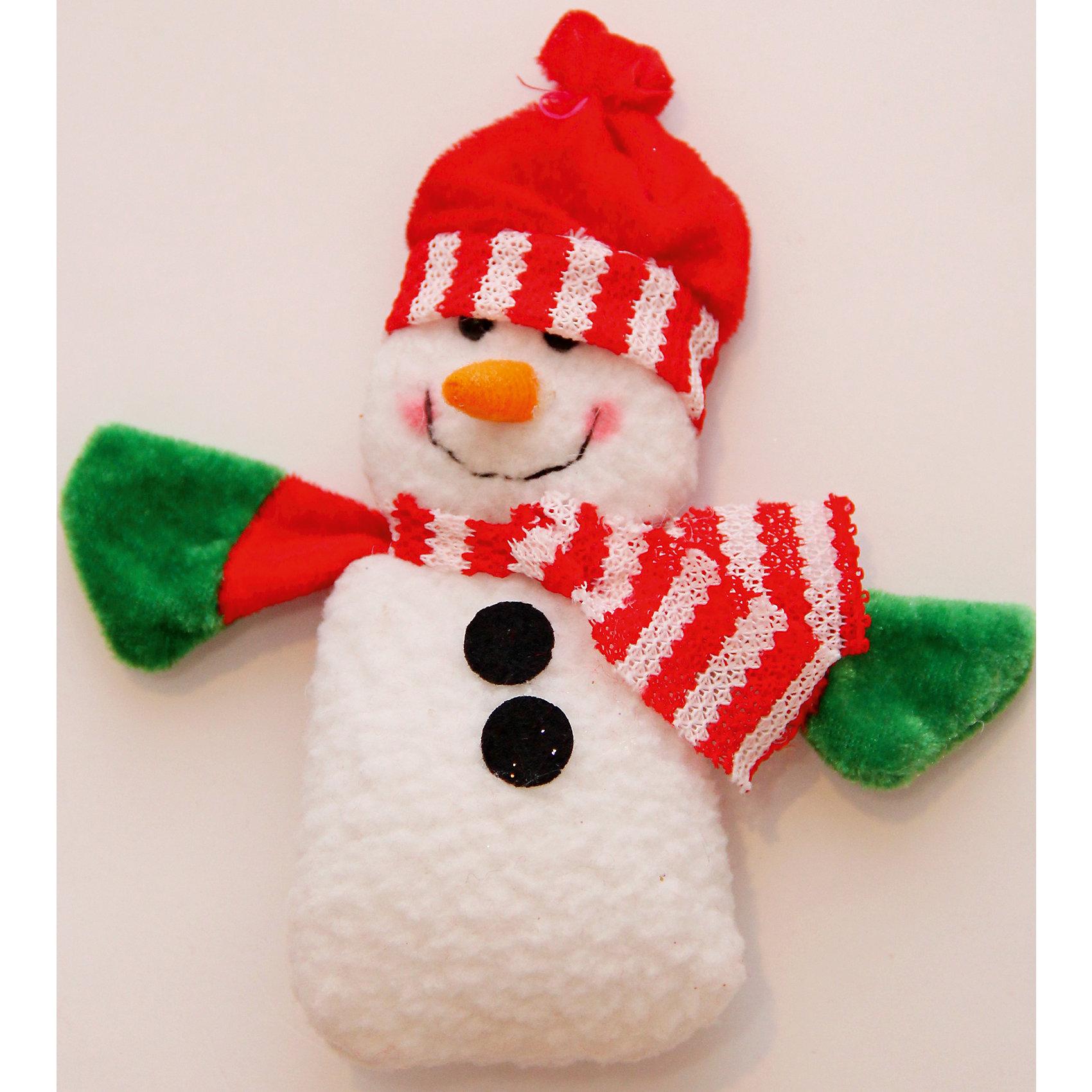 Феникс-Презент Украшение новогоднее подвесное Снеговик с шарфом новогоднее подвесное украшение феникс презент кленовый лист