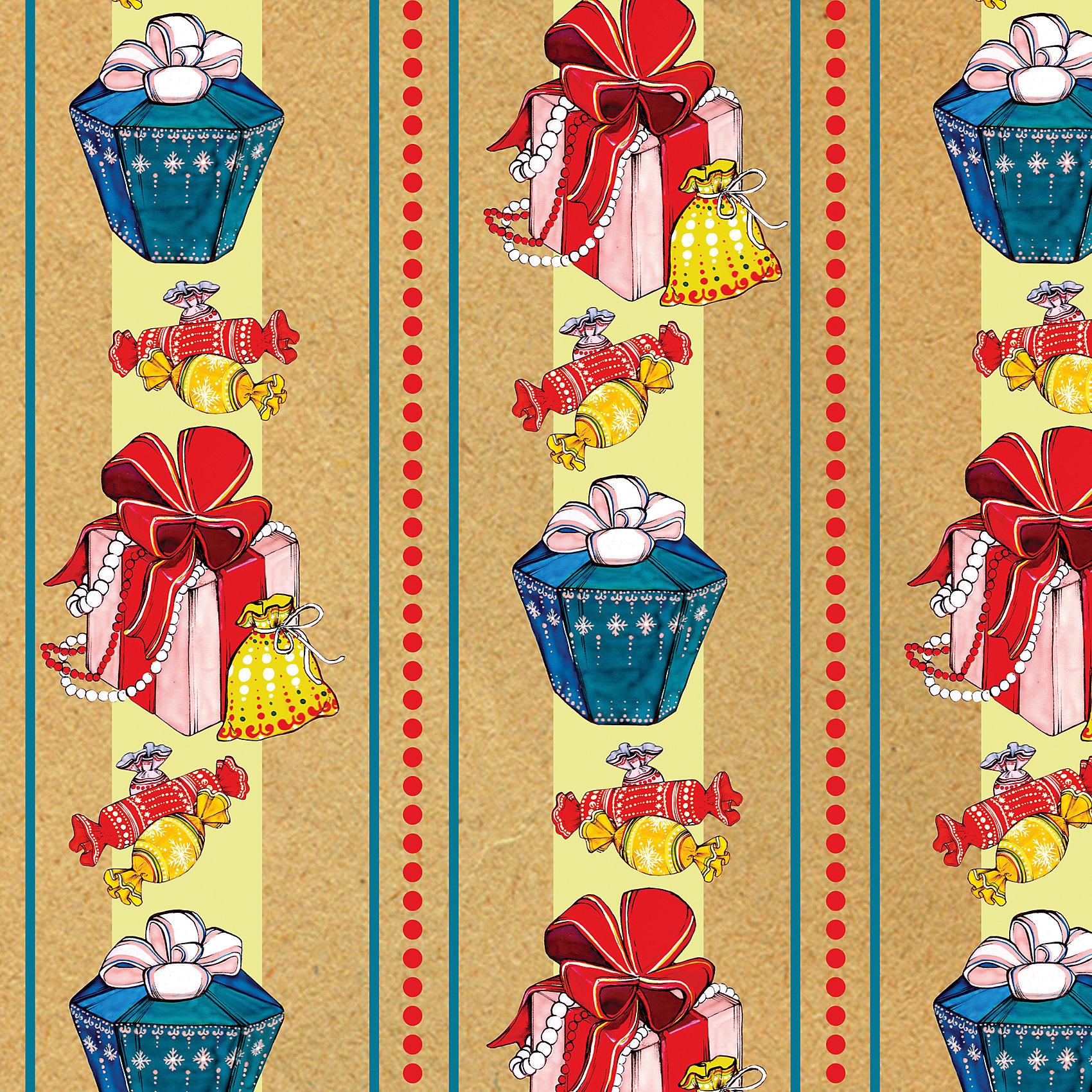 Бумага крафт Подарки в листах размером 100х70 смБумага крафт ПОДАРКИ арт.43042 для сувенирной продукции в листах размером 100х70 см, немелованная, с полноцветным декоративным рисунком, плотность 80 г/м2, свернута в рулончик<br><br>Ширина мм: 10<br>Глубина мм: 10<br>Высота мм: 700<br>Вес г: 59<br>Возраст от месяцев: 60<br>Возраст до месяцев: 600<br>Пол: Унисекс<br>Возраст: Детский<br>SKU: 5144638