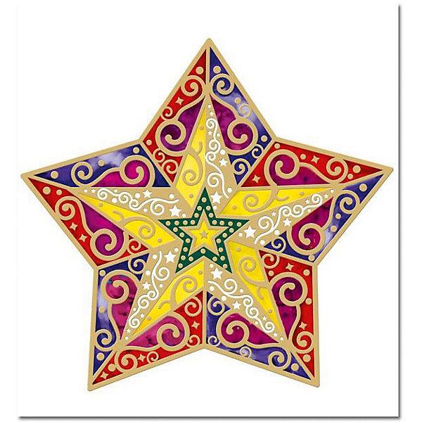 Новогоднее оконное украшение Звезда 29,4*31,7Новогодние наклейки на окна<br>Новогоднее оконное украшение Звезда 29,4*31,7 арт.20208<br><br>Ширина мм: 310<br>Глубина мм: 290<br>Высота мм: 50<br>Вес г: 60<br>Возраст от месяцев: 60<br>Возраст до месяцев: 600<br>Пол: Унисекс<br>Возраст: Детский<br>SKU: 5144642