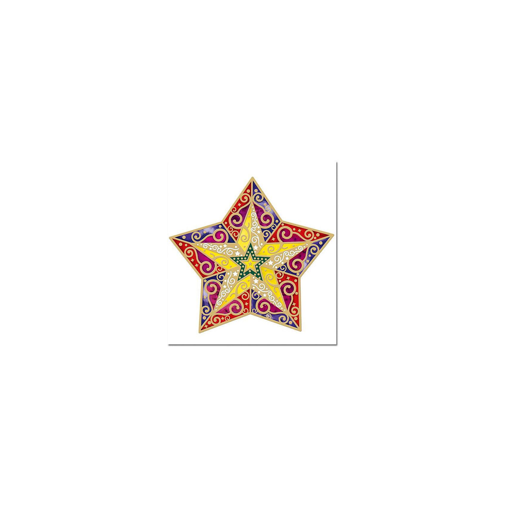 Феникс-Презент Новогоднее оконное украшение Звезда 29,4*31,7