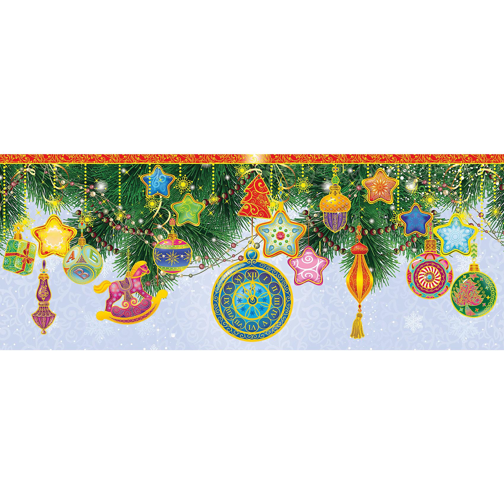 Новогоднее оконное украшение Елочные игрушки (54*21 см из ПВХ пленки)Новогоднее оконное украш. арт.34360/72 Елочные игрушки (54*21 см, из ПВХ пленки, декорировано глиттером; крепится к гладкой поверхности стекла посредством статического эффекта) арт.34360<br><br>Ширина мм: 540<br>Глубина мм: 210<br>Высота мм: 1<br>Вес г: 72<br>Возраст от месяцев: 60<br>Возраст до месяцев: 600<br>Пол: Унисекс<br>Возраст: Детский<br>SKU: 5144650