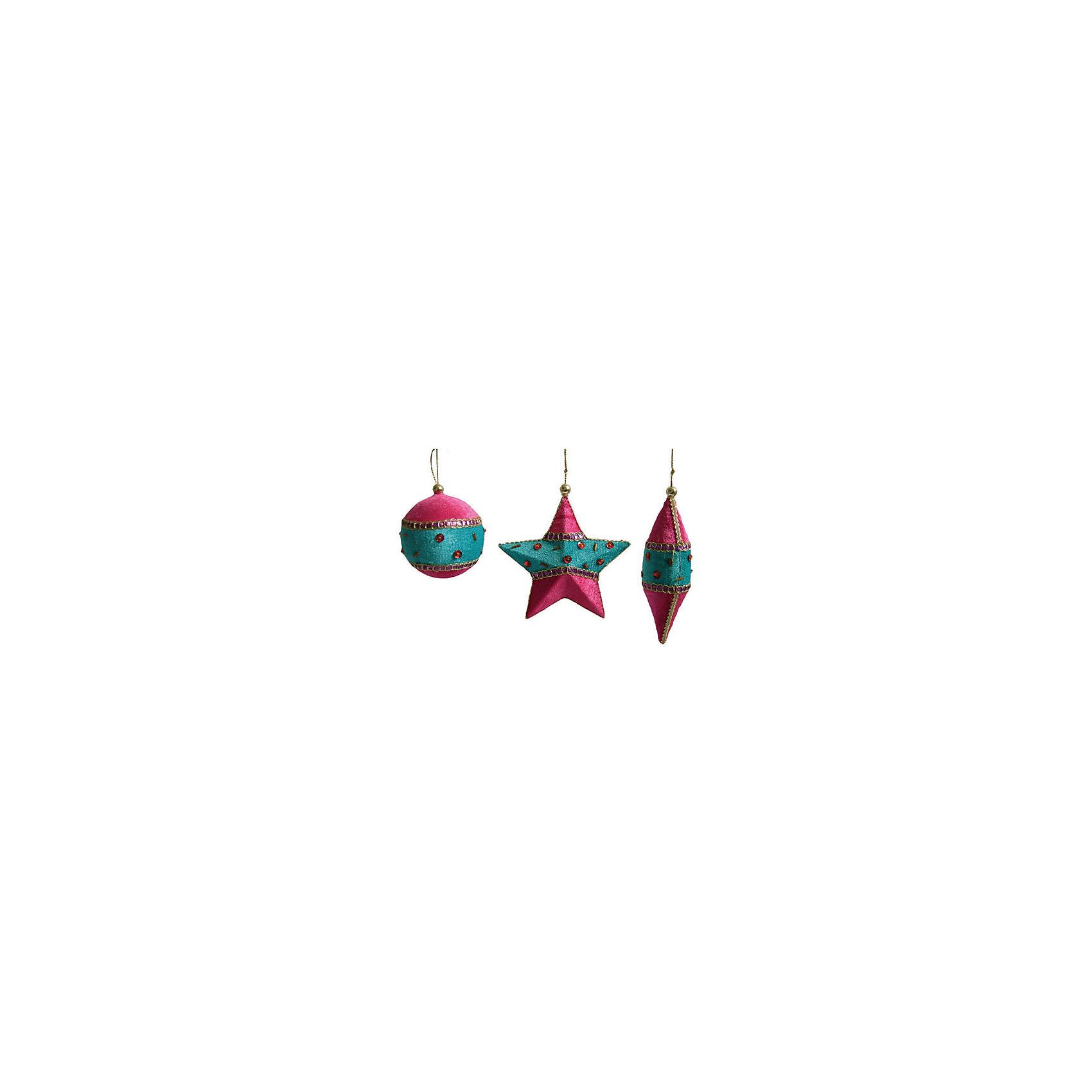 Феникс-Презент Набор Елочные украшения с подвеской 11 см