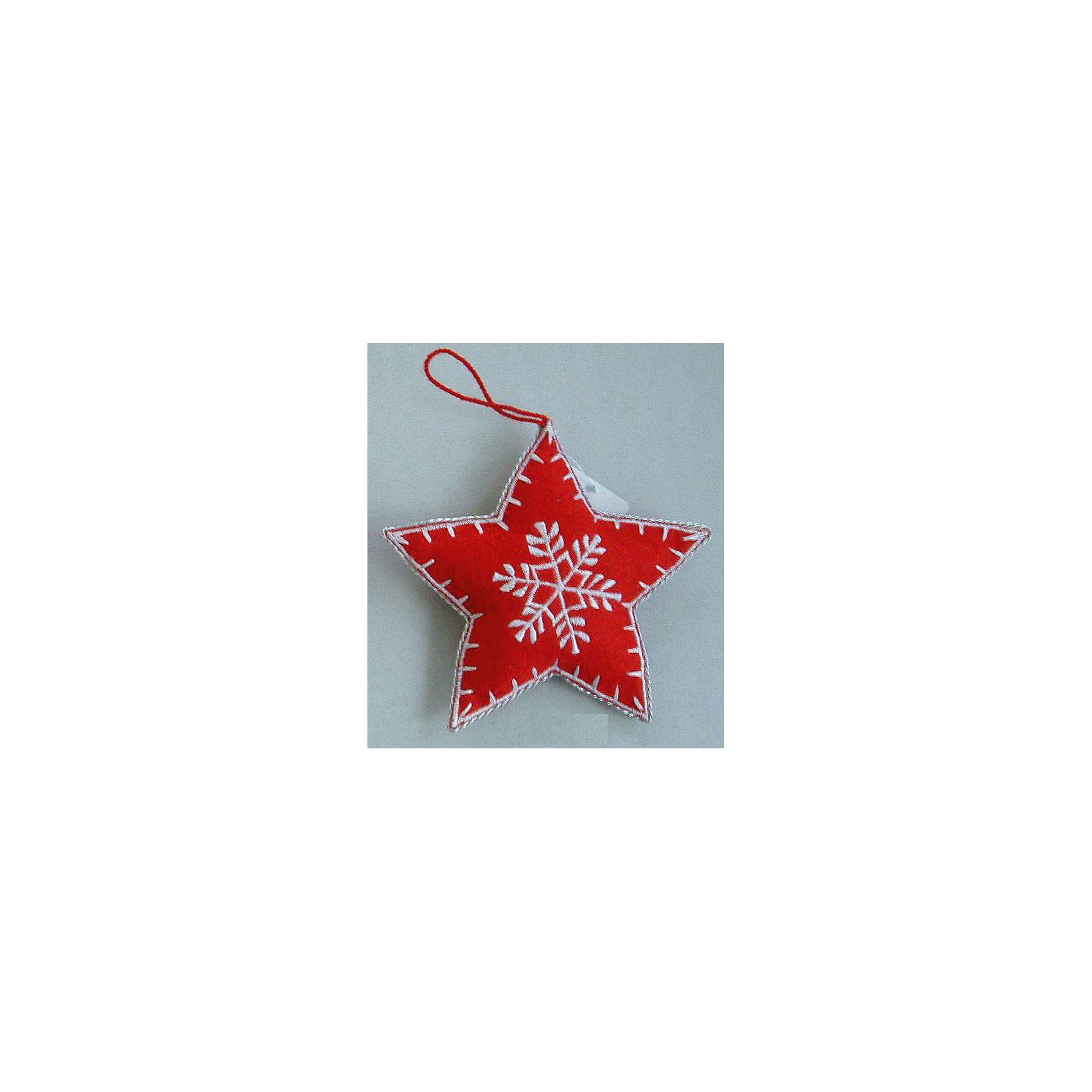 Новогоднее подвесное украшение Звезда 8смВсё для праздника<br>Новогоднее подвесное украшение Звезда из полиэстра 8см. арт.25268<br><br>Ширина мм: 80<br>Глубина мм: 80<br>Высота мм: 20<br>Вес г: 4<br>Возраст от месяцев: 60<br>Возраст до месяцев: 600<br>Пол: Унисекс<br>Возраст: Детский<br>SKU: 5144669