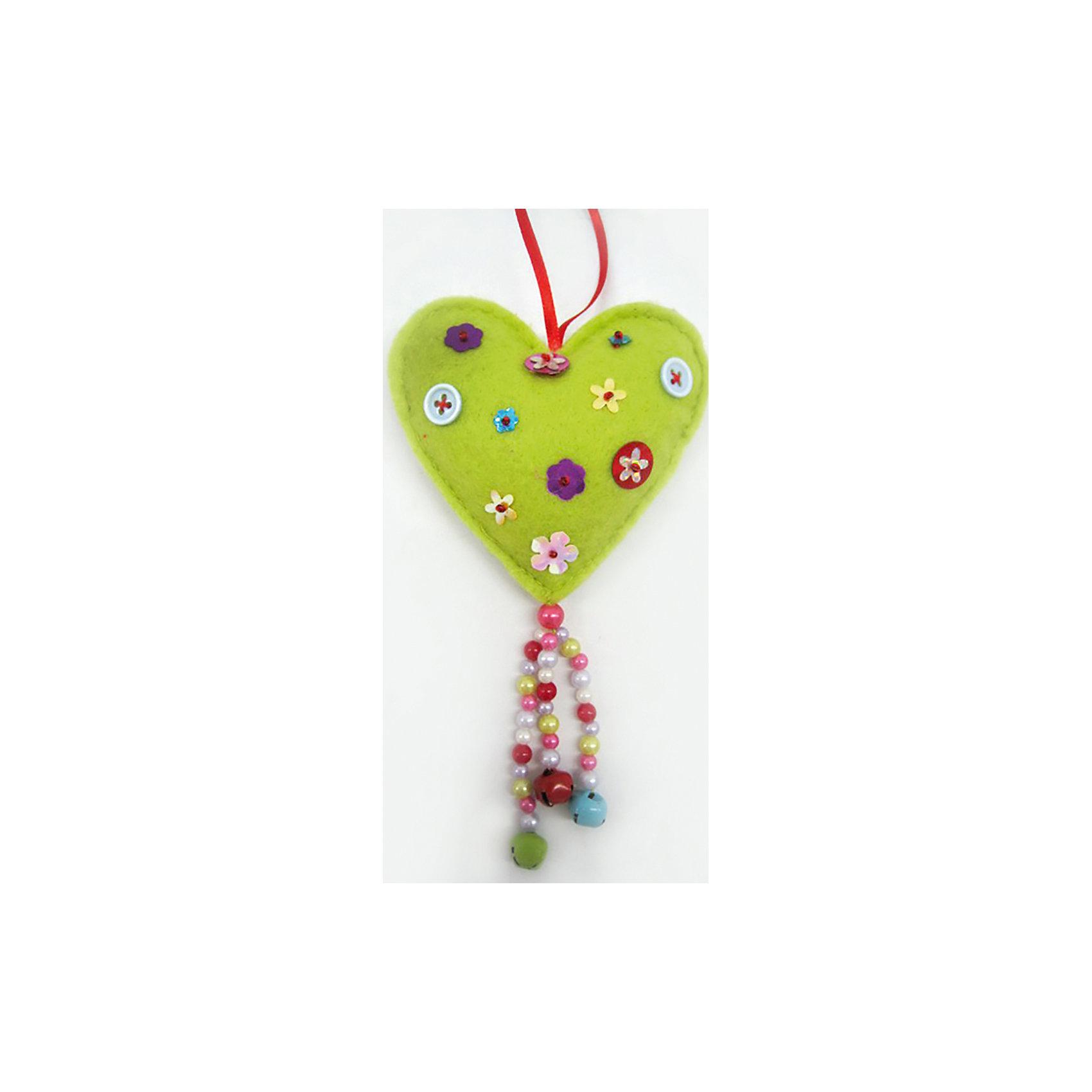 Феникс-Презент Новогоднее подвесное украшение  Сердечко (полиэстер) 9,5 см новогоднее подвесное украшение собака ф21 1716