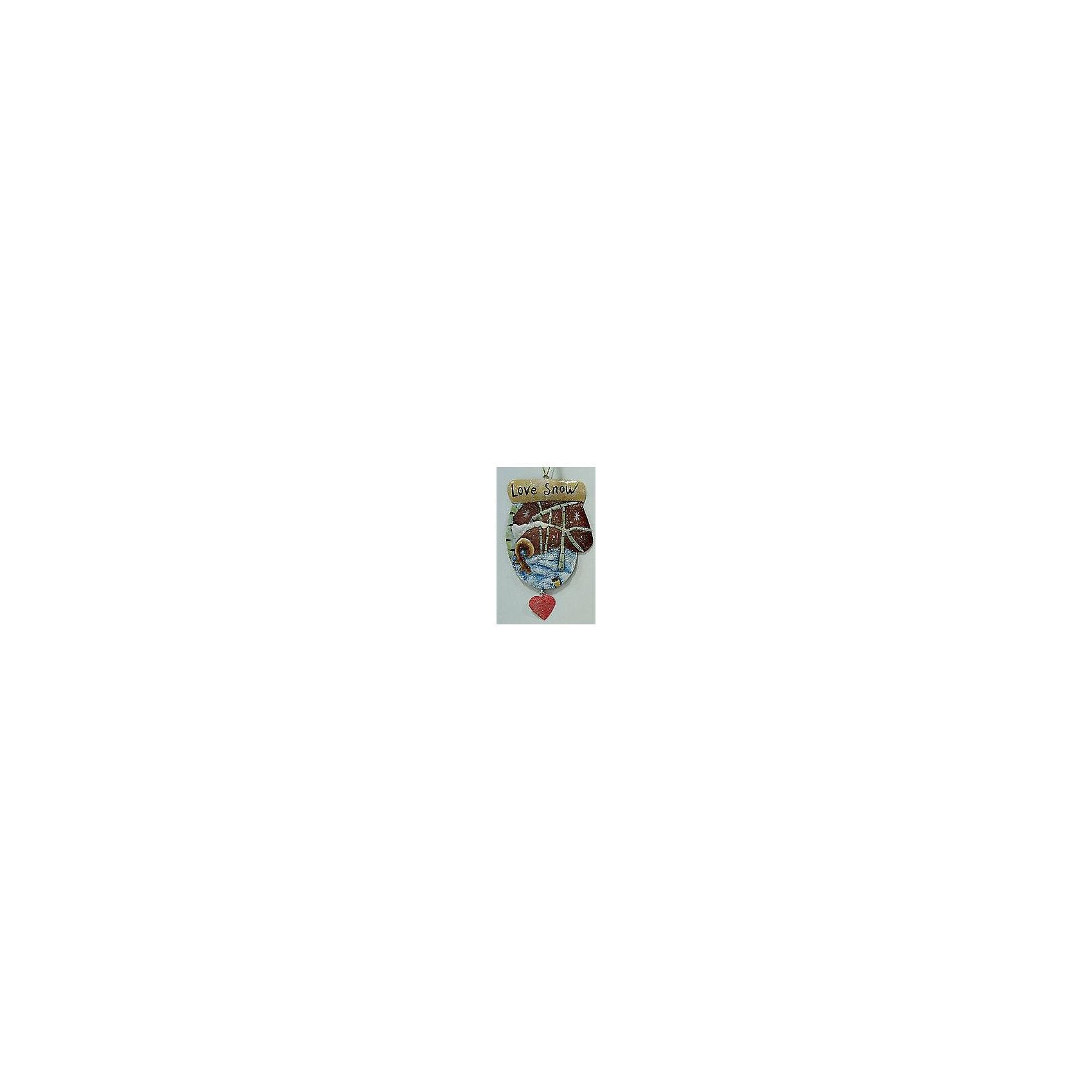 Феникс-Презент Новогоднее подвесное украшение (8х0,1х14,5см, окрашенный черный металл) новогоднее подвесное украшение феникс презент кленовый лист