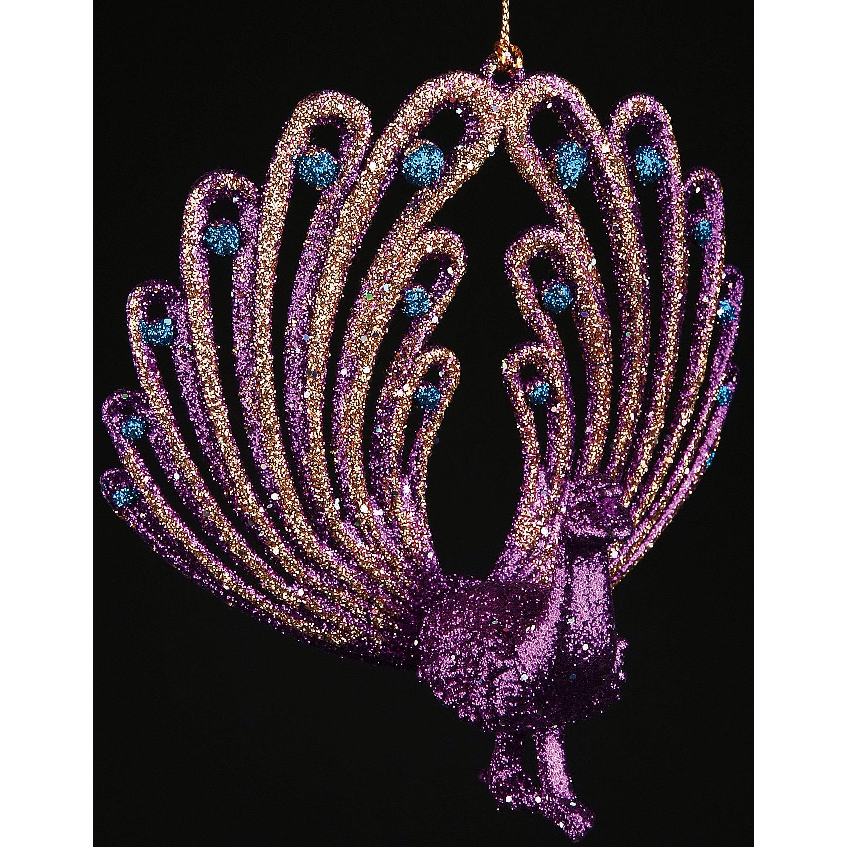 Феникс-Презент Новогоднее  подвесное елочное украшение из пластика новогоднее подвесное украшение феникс презент кленовый лист