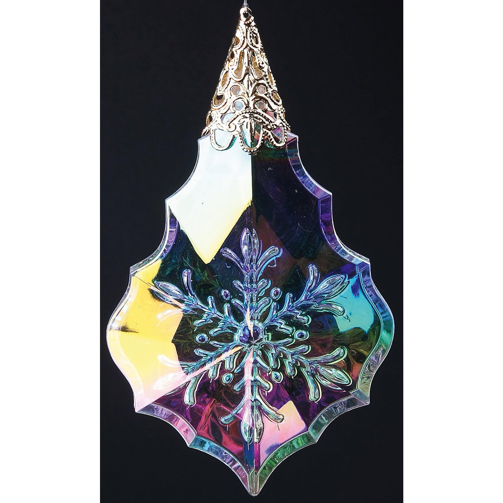 Феникс-Презент Новогоднее подвесное елочное украшение Капелька   (10 см) украшение новогоднее подвесное mister christmas дед мороз коллекционное высота 10 см