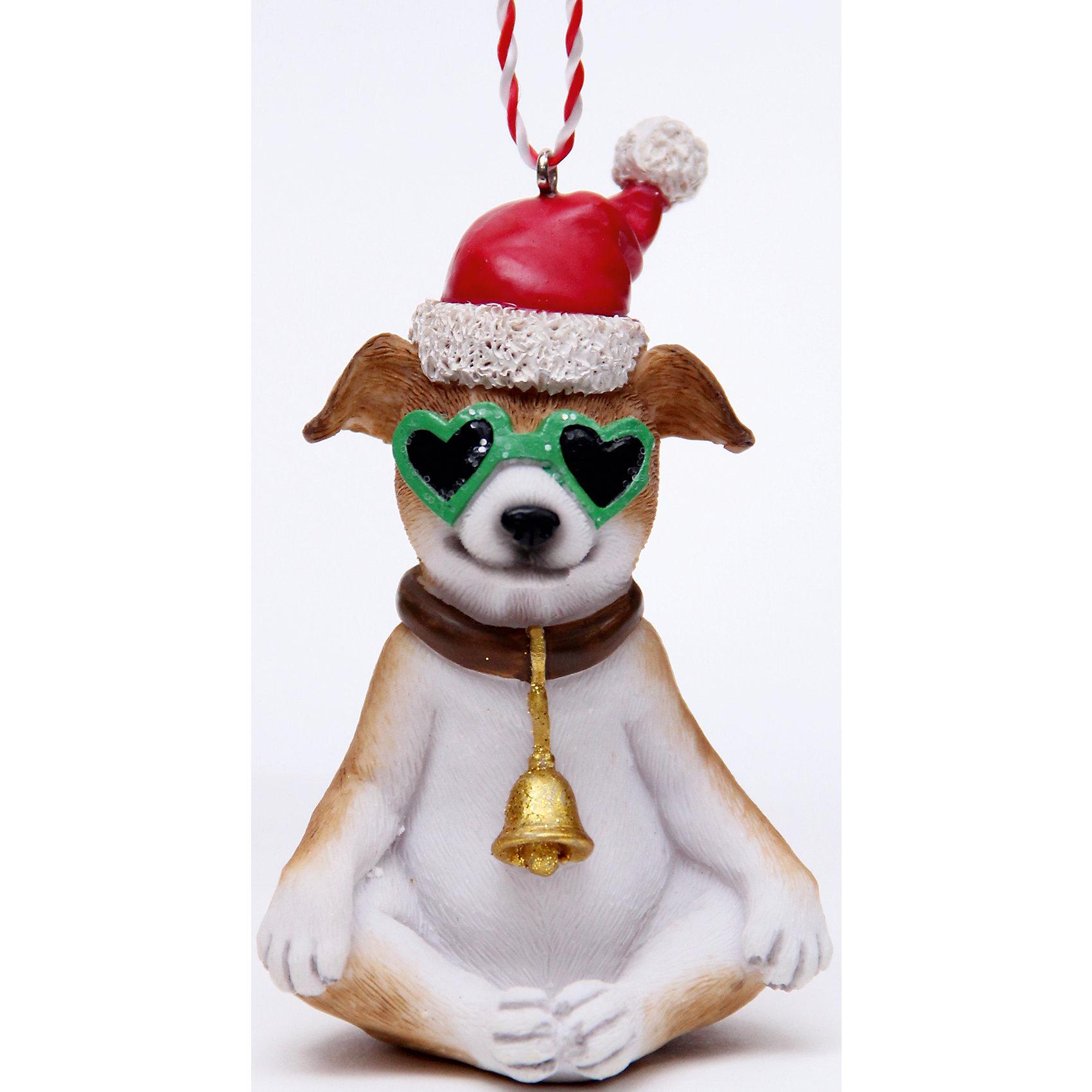Украшение Собака в зеленых очках 5,5*5,5*10 смВсё для праздника<br>Украшение новогоднее подвесное СОБАКА В ЗЕЛЕНЫХ ОЧКАХ арт.41953из полирезины / 5,5х5,5х10<br><br>Ширина мм: 60<br>Глубина мм: 60<br>Высота мм: 100<br>Вес г: 115<br>Возраст от месяцев: 60<br>Возраст до месяцев: 600<br>Пол: Унисекс<br>Возраст: Детский<br>SKU: 5144696