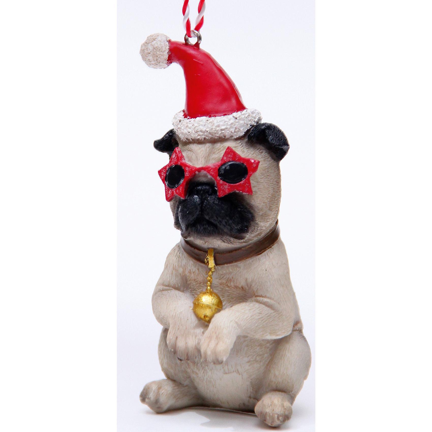 Новогоднее подвесное украшение Собака в красных очках из полирезины  (5х4,5х10)Украшение новогоднее подвесное СОБАКА В КРАСНЫХ ОЧКАХ арт.41954 из полирезины / 5х4,5х10<br><br>Ширина мм: 60<br>Глубина мм: 50<br>Высота мм: 110<br>Вес г: 130<br>Возраст от месяцев: 60<br>Возраст до месяцев: 600<br>Пол: Унисекс<br>Возраст: Детский<br>SKU: 5144697