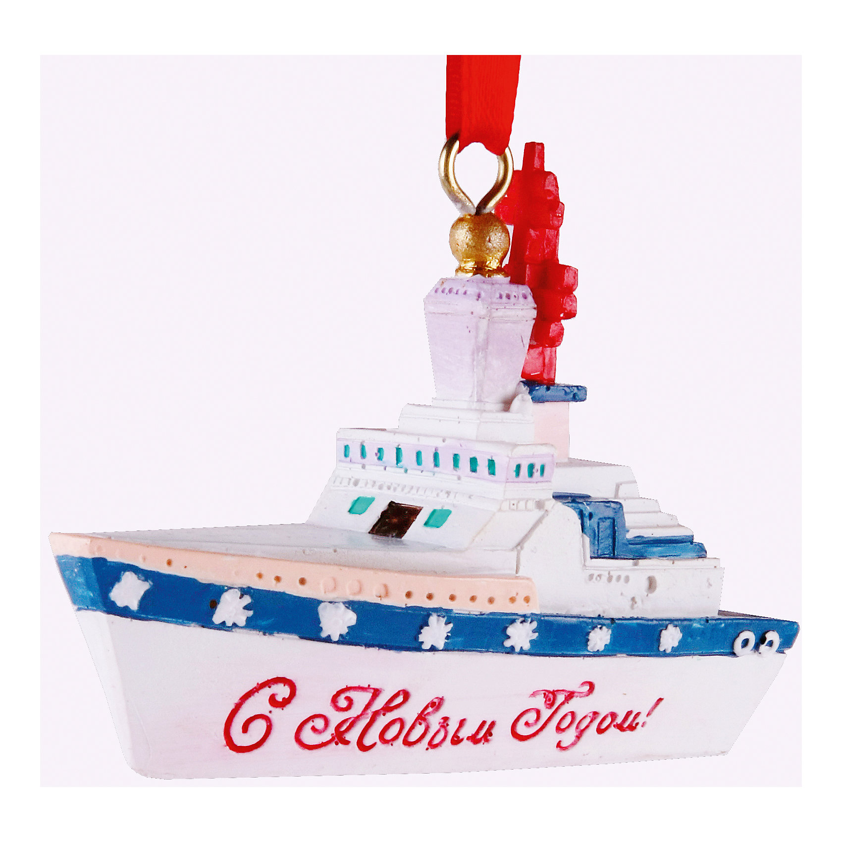 Феникс-Презент Новогоднее подвесное украшение Крейсер (7,5*3*5,8 см, из полирезины) феникс презент новогоднее подвесное украшение 6 6 4 6 4 5см из полирезины