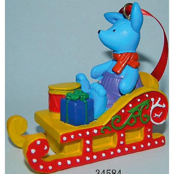 Украшение Игрушечный заяц в санях 7*3,5*7 смЁлочные игрушки<br>Новогоднее подвесн.украш. Игрушечный заяц в санях арт.34584/4 (7*3,5*7 см, из полирезины) арт.34584<br>Ширина мм: 70; Глубина мм: 35; Высота мм: 70; Вес г: 121; Возраст от месяцев: 60; Возраст до месяцев: 600; Пол: Унисекс; Возраст: Детский; SKU: 5144708;