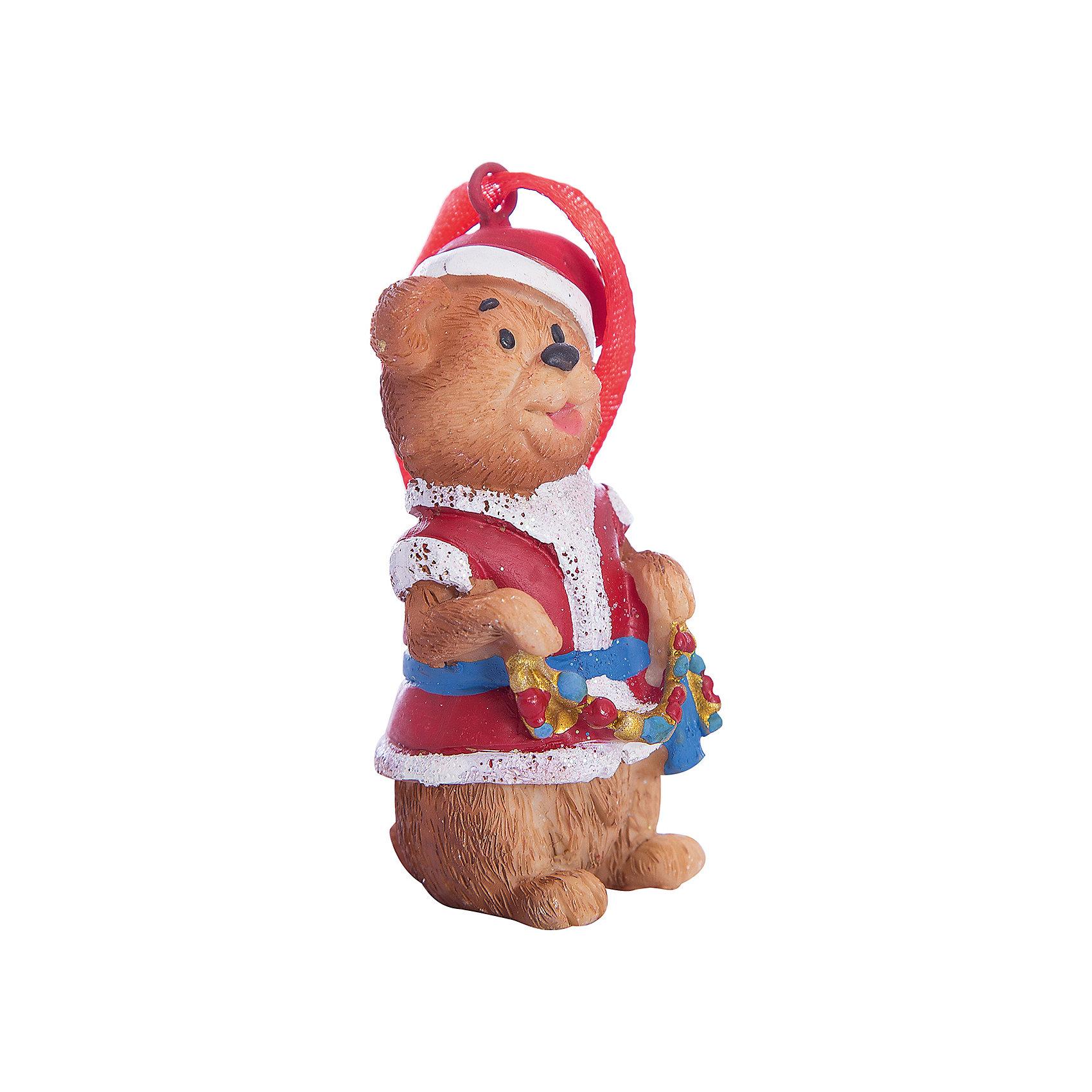 Украшение Мишка в костюме Деда Мороза 3,5*3*8 смВсё для праздника<br>Новогоднее подвесн.украш. Мишка в костюме Деда Мороза арт.34590/8 (3,5*3*8 см, из полирезины) арт.34590<br><br>Ширина мм: 35<br>Глубина мм: 30<br>Высота мм: 80<br>Вес г: 85<br>Возраст от месяцев: 60<br>Возраст до месяцев: 600<br>Пол: Унисекс<br>Возраст: Детский<br>SKU: 5144710