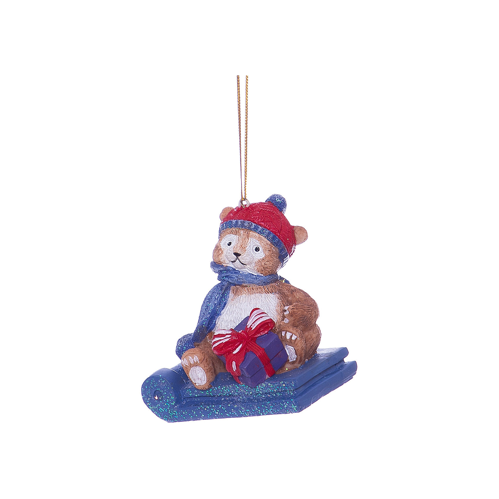 Новогоднее подвесное украшение Мишка в санкахХарактеристики товара:<br><br>• цвет: разноцветный<br>• материал: полирезина<br>• размер: 8.2 х 6.2 х 7.5 см<br>• комплектация: 1 шт<br>• подарочная модель<br>• с подвесом<br>• страна изготовитель: Китай<br><br>Новогодний праздник невозможен без ёлочных украшений. Этот мишка от бренда Феникс-Презент станет отличным подарком близким, друзьям или сотрудникам и украсит помещение в новогодние дни! Он отлично смотрится на ёлке и в интерьере.<br>Такие небольшие детали и создают полную праздничную картину наравне с <br>ёлкой и мишурой! Этот мишка будет создавать праздничное настроение не один год! Изделие производится из качественных и проверенных материалов, которые безопасны для детей.<br><br>Новогоднее подвесное украшение Мишка в санках от бренда Феникс-Презент можно купить в нашем интернет-магазине.<br><br>Ширина мм: 80<br>Глубина мм: 70<br>Высота мм: 90<br>Вес г: 97<br>Возраст от месяцев: 60<br>Возраст до месяцев: 600<br>Пол: Унисекс<br>Возраст: Детский<br>SKU: 5144729
