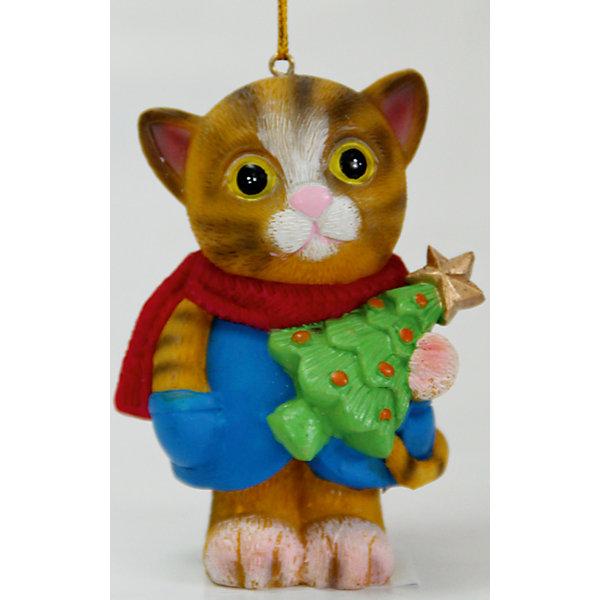 Украшение Милый котик 5,3*4*7,5 смЁлочные игрушки<br>Новогоднее подвесн. украш. Милый котик арт.38314 (5.3*4*7.5см, из полирезины) / 5.3*4*см арт.38314<br><br>Ширина мм: 50<br>Глубина мм: 50<br>Высота мм: 100<br>Вес г: 49<br>Возраст от месяцев: 60<br>Возраст до месяцев: 600<br>Пол: Унисекс<br>Возраст: Детский<br>SKU: 5144730