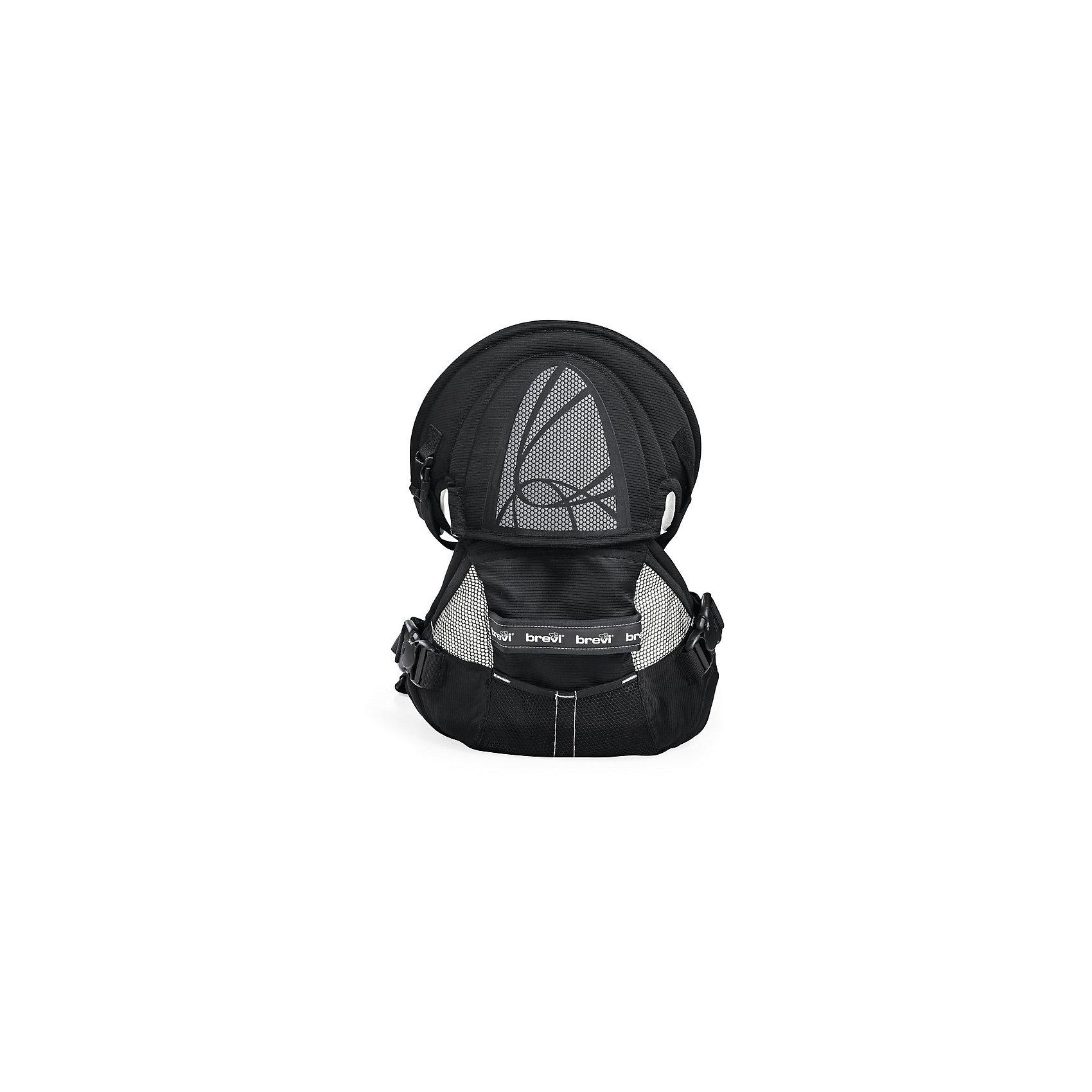 Рюкзачок для переноски детей Pod (015/258), Brevi, черныйСлинги и рюкзаки-переноски<br>Характеристики рюкзачка для переноски детей Brevi Pod: <br><br>- вес: 1,9 кг<br>- вес упаковки: 0,4 кг<br>- размер упаковки: 37*42*27 см<br>- объем упаковки: 0,043 м3<br>- минимальный вес ребенка: 3,5 кг.<br><br>Рюкзачок для переноски детей торговой марки Brevi Pod для переноски детей будет заботиться о спине мамы. У рюкзака инновационная система распределения нагрузки на спину, имеющая новые точки опоры под мышкой и на плечи, она поглощает 60% веса Вашего малыша. Таким образом Вы сможете долго носить малыша в рюкзачке. У изделия имеются эргономичные ремни, которые регулируют рюкзак. Рюкзак  терморегулирующийся, воздухопроницаемый. Обивка не повредит нежной кожи малыша, так как выполнена из мягкого материала с органическими волокнами. Ткань изделия не содержит вредных веществ, не вызывает аллергии. Подходит для детей от 3,5 кг (с рождения) до 3-4 лет.<br><br>Рюкзачок для переноски детей торговой марки Brevi Pod можно купить в нашем интернет-магазине.<br><br>Ширина мм: 275<br>Глубина мм: 375<br>Высота мм: 420<br>Вес г: 2300<br>Возраст от месяцев: 0<br>Возраст до месяцев: 36<br>Пол: Унисекс<br>Возраст: Детский<br>SKU: 5144749