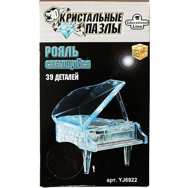 Пазл Рояль XL Светильник, 3D Crystal Puzzle3D пазлы<br>Характеристики товара:<br><br>- цвет: полупрозрачный;<br>- материал: пластик;<br>- деталей: 30;<br>- высокая точность подгонки элементов;<br>- размер упаковки: 12х7х20 см;<br>- упаковка: коробка.<br><br>Собирать пазлы любят и дети, и взрослые! Это занятие может не только позволять весело проводить время, но и помогать всестороннему развитию ребенка. Изделие представляет собой детали, из которых нужно собрать очень красивую объемныу фигуру из полупрозрачного пластика. Все детали отлично проработаны, готовая конструкция украсит любой интерьер!<br>Собирание пазлов поможет формированию разных навыков, оно помогает развить тактильное восприятие, мелкую моторику, воображение, внимание и логику. Изделие произведено из качественных материалов, безопасных для ребенка. Набор станет отличным подарком детям!<br><br>Пазл Рояль XL Светильник, 3D от бренда Crystal Puzzle можно купить в нашем интернет-магазине.<br><br>Ширина мм: 120<br>Глубина мм: 70<br>Высота мм: 200<br>Вес г: 200<br>Возраст от месяцев: 72<br>Возраст до месяцев: 2147483647<br>Пол: Унисекс<br>Возраст: Детский<br>Количество деталей: 39<br>SKU: 5146179