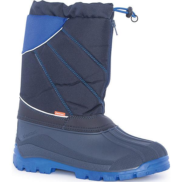 Сноубутсы Nico-M для мальчика DEMARСноубутсы<br>Характеристики товара:<br><br>• цвет: черный, синий<br>• материал верха: текстиль<br>• материал подкладки: 100% натуральная шерсть <br>• материал подошвы: ТЭП<br>• температурный режим: от -25° до 0° С<br>• верх не продувается, пропитка от грязи и влаги<br>• анискользящая подошва<br>• молния<br>• усиленные пятка и носок<br>• страна бренда: Польша<br>• страна изготовитель: Польша<br><br>Зима - это время катания с горок, игр в снежки, лепки снеговиков и прогулок в снегопад! Чтобы не пропустить главные зимние удовольствия, нужно запастись теплой и удобной обувью. Такие сапожки обеспечат ребенку необходимый для активного отдыха комфорт, а подкладка из натуральной овечьей шерсти позволит ножкам оставаться теплыми. Сапожки легко надеваются и снимаются, отлично сидят на ноге. Они удивительно легкие!<br>Обувь от польского бренда Demar - это качественные товары, созданные с применением новейших технологий и с использованием как натуральных, так и высокотехнологичных материалов. Обувь отличается стильным дизайном и продуманной конструкцией. Изделие производится из качественных и проверенных материалов, которые безопасны для детей.<br><br>Сапоги Nico-M для мальчика от бренда Demar (Демар) можно купить в нашем интернет-магазине.<br>Ширина мм: 257; Глубина мм: 180; Высота мм: 130; Вес г: 420; Цвет: синий; Возраст от месяцев: 144; Возраст до месяцев: 156; Пол: Мужской; Возраст: Детский; Размер: 35/36,37/38,39/40; SKU: 5146897;