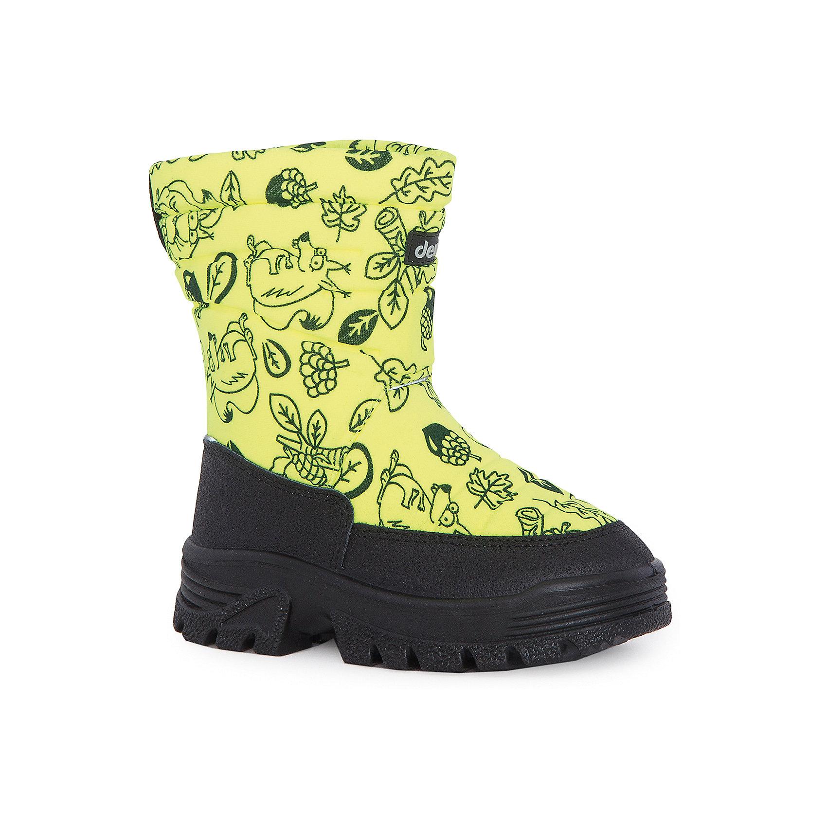 Сапоги  DEMARСапоги  DEMAR<br>Зимняя модель. Сапожки имеют утеплитель внутренней части изготовлен на основе натуральной овечьей шерсти, помогает выдерживать морозы до - 20 ° C. Зимние сапожки Demar очень легкие, вес ОКОЛО 500 гр.<br>Верх обуви - не продуваемый текстильный материал, имеющий высокие износостойкие и водоотталкивающие свойства. Термокаучук, используется при изготовлении подошвы способствует сохранению эластичности даже при низких температурах и позволяет избежать скольжения. Сапожки легко одеваются. Выполнены из супер легких материалов, вес их на столько легкий, что ребенок даже не заметит, что он уже обут)))<br>Утепленные натуральной овечьей шерстью - гарантия теплых ножек!<br>Сделаны в Польше!<br>Рекомендуем для зимних прогулок и игр.<br>Сертифицированы, гарантия качества.<br><br>Ширина мм: 257<br>Глубина мм: 180<br>Высота мм: 130<br>Вес г: 420<br>Цвет: желтый<br>Возраст от месяцев: 132<br>Возраст до месяцев: 144<br>Пол: Унисекс<br>Возраст: Детский<br>Размер: 35,34,33,32,31,30,29,28,27,26,25<br>SKU: 5146917