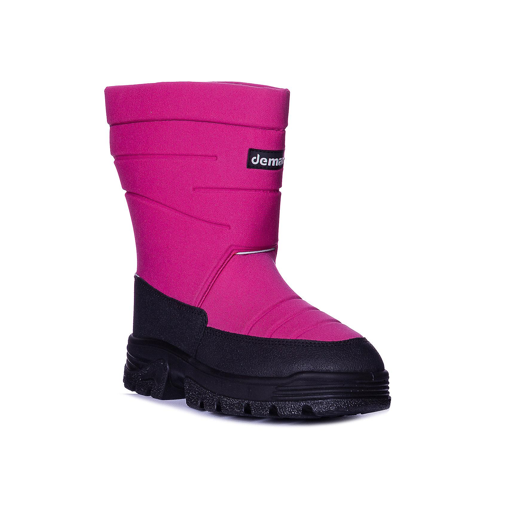 Сапоги Swen для девочки DEMARХарактеристики товара:<br><br>• цвет: розовый<br>• материал верха: текстиль<br>• материал подкладки: 100% натуральная шерсть <br>• материал подошвы: ТЭП<br>• температурный режим: от -20° до 0° С<br>• верх не продувается, пропитка от грязи и влаги<br>• анискользящая подошва<br>• толстая устойчивая подошва<br>• усиленные пятка и носок<br>• страна бренда: Польша<br>• страна изготовитель: Польша<br><br>Зима - это время катания с горок, игр в снежки, лепки снеговиков и прогулок в снегопад! Чтобы не пропустить главные зимние удовольствия, нужно запастись теплой и удобной обувью. Такие сапожки обеспечат ребенку необходимый для активного отдыха комфорт, а подкладка из натуральной овечьей шерсти позволит ножкам оставаться теплыми. Сапожки легко надеваются и снимаются, отлично сидят на ноге. Они удивительно легкие!<br>Обувь от польского бренда Demar - это качественные товары, созданные с применением новейших технологий и с использованием как натуральных, так и высокотехнологичных материалов. Обувь отличается стильным дизайном и продуманной конструкцией. Изделие производится из качественных и проверенных материалов, которые безопасны для детей.<br><br>Сапоги для девочки от бренда Demar (Демар) можно купить в нашем интернет-магазине.<br><br>Ширина мм: 257<br>Глубина мм: 180<br>Высота мм: 130<br>Вес г: 420<br>Цвет: фиолетовый<br>Возраст от месяцев: 144<br>Возраст до месяцев: 156<br>Пол: Женский<br>Возраст: Детский<br>Размер: 36,38,37<br>SKU: 5146958