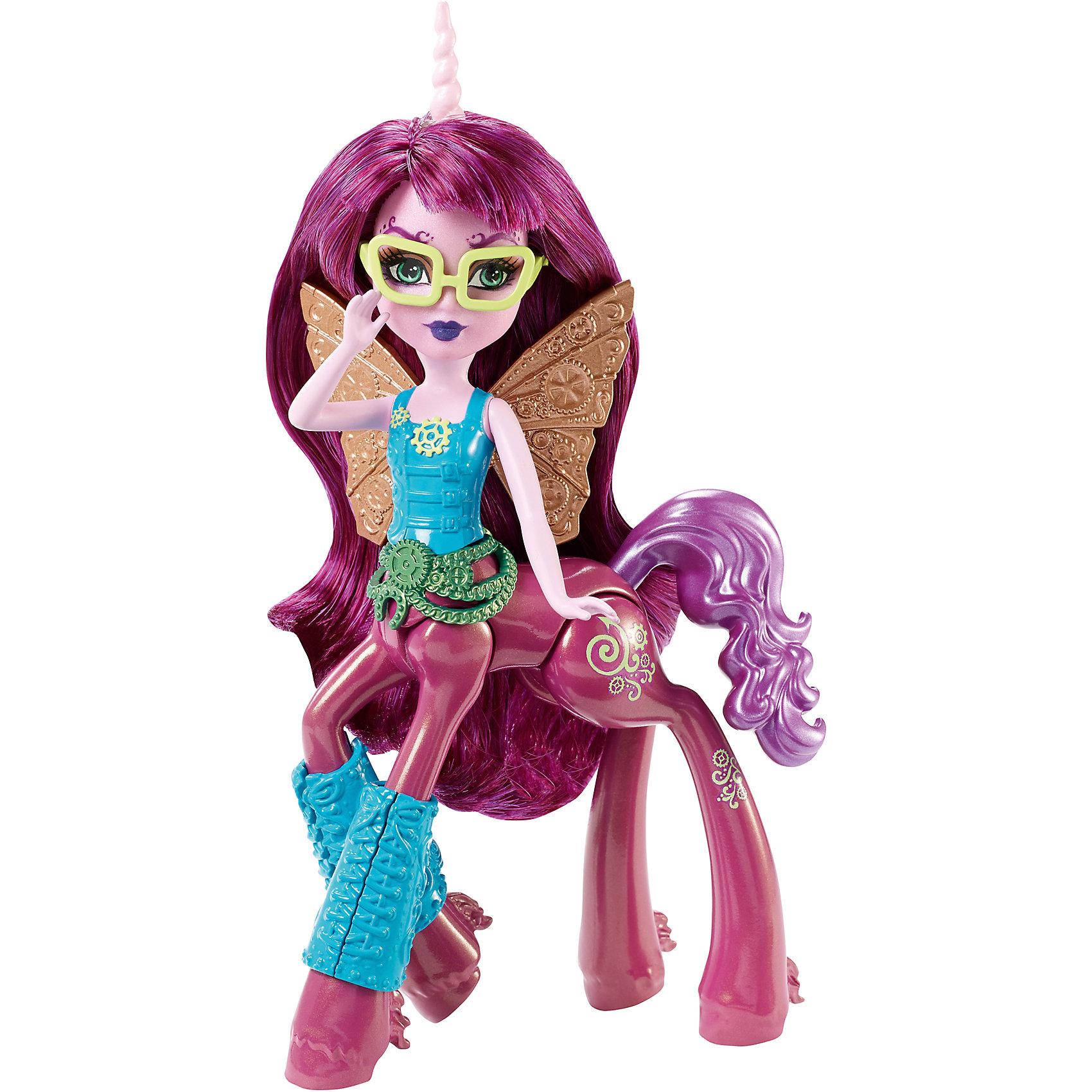 Кукла Пенепола Стимтейл, Fright-Mares, Monster HighБренды кукол<br>Характеристики:<br><br>• Вид игр: сюжетно-ролевые, для коллекционирования<br>• Пол: для девочки<br>• Серия: Мини-кентавры (Monster High Fright-Mares Fawtine Fallowhart Doll)<br>• Материал: пластик, полимер<br>• Цвет: розовый, голубой, золотистый, зеленый<br>• Высота куклы: 14,5 см<br>• Подвижные части тела<br>• Наличие украшение для ног, пояс, очки, крылышки<br>• Тип упаковки: картонная коробка<br>• Размеры упаковки (Д*Ш*В): 21*17*6 см<br>• Вес: 155 г<br><br>Кукла Пенепола Стимтейл, Fright-Mares, Monster High – это мини-кукла новой серии от Mattel, которые предстают в новом образе – наполовину кентавров и наполовину монстров. У каждой мини-куклы свой уникальный стиль и внешний вид.  Фаунтин Фэллоухарт – это бабочка-единорог с длинными ярко-розовыми волосами с челкой. На спине мини-куклы имеются ажурные золотистые крылья. Одета она в голубой топ, на талии – пояс с круглой пряжкой, на передних ногах – украшение с имитацией шнуровки. На голове у Пенеполы –  белый витой рог. Все элементы куклы выполнены из безопасного и нетоксичного пластика и полимера, в туловище имеется шарнир, который позволяет поворачивать корпус куклы в разные сторона. Голова и руки – подвижные. <br><br>Куклу Пенеполу Стимтейл, Fright-Mares, Monster High можно купить в нашем интернет-магазине.<br><br>Ширина мм: 205<br>Глубина мм: 60<br>Высота мм: 165<br>Вес г: 210<br>Возраст от месяцев: 72<br>Возраст до месяцев: 144<br>Пол: Женский<br>Возраст: Детский<br>SKU: 5147887