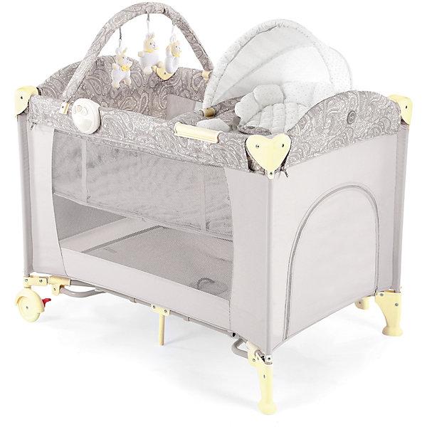 Кровать-манеж LAGOON V2, Happy Baby, бежевыйДетские кроватки<br>Кровать-манеж LAGOON V2, Happy Baby, бежевый.<br><br>Характеристики:<br><br>• можно использовать в качестве кроватки или шезлонга<br>• имеет второе дно для новорожденных малышей<br>• шезлонг можно использовать как качалку или как пеленальный столик<br>• есть дуга с игрушками <br>• съемные силиконовые полозья для укачивания малыша<br>• вход сбоку на молнии<br>• есть карман и москитная сетка<br>• шезлонг оснащен ремнями безопасности<br>• блок с подсветкой и вибрацией <br>• компактна в собранном виде<br>• материал: пластик, металл, полиэстер<br>• вес: 13,2 кг<br>• размер в разложенном виде: 110х80х85 см<br>• размер шезлонга: 73х47х34 см<br>• размер в собранном виде: 27х24х80 см<br>• цвет: бежевый<br><br>Универсальная кровать-манеж lagoon v2 от известной марки Happy Baby можно использовать как манеж, кроватку или шезлонг. Манеж имеет второе дно для малышей. Шезлонг тоже можно использовать в двух вариантах: качалка и пеленальный столик. Для этого достаточно установить шезлонг на полозья, либо на бортики. Уберите второе дно - и манеж легко превратится из спального места в игровую площадку! Кроме того, манеж имеет много приятных мелочей, которые облегчат жизнь родителей: дополнительный лаз на молнии, карман для полезных вещей, дуга с мягкими зайчиками и многое другое. Для вашего удобства манеж оснащен колесиками и очень компактен в собранном виде. Кровать-манеж lagoon v2 - лучший выбор заботливых родителей!<br><br>Кровать-манеж LAGOON V2, Happy Baby, бежевый вы можете купить в нашем интернет-магазине.<br><br>Ширина мм: 270<br>Глубина мм: 270<br>Высота мм: 810<br>Вес г: 13830<br>Цвет: бежевый<br>Возраст от месяцев: 0<br>Возраст до месяцев: 36<br>Пол: Унисекс<br>Возраст: Детский<br>SKU: 5148401