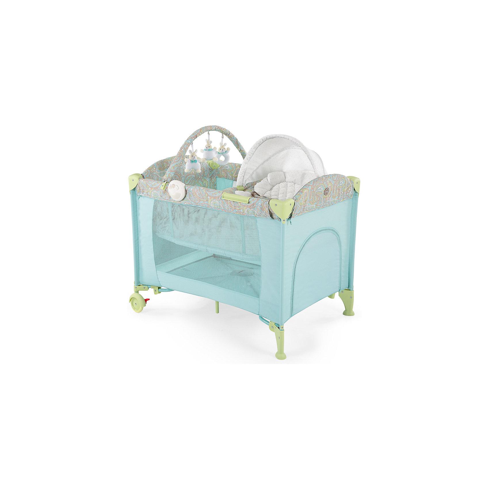 Happy Baby Кровать-манеж LAGOON V2, Happy Baby, голубой happy baby ходунки smiley v2 цвет голубой