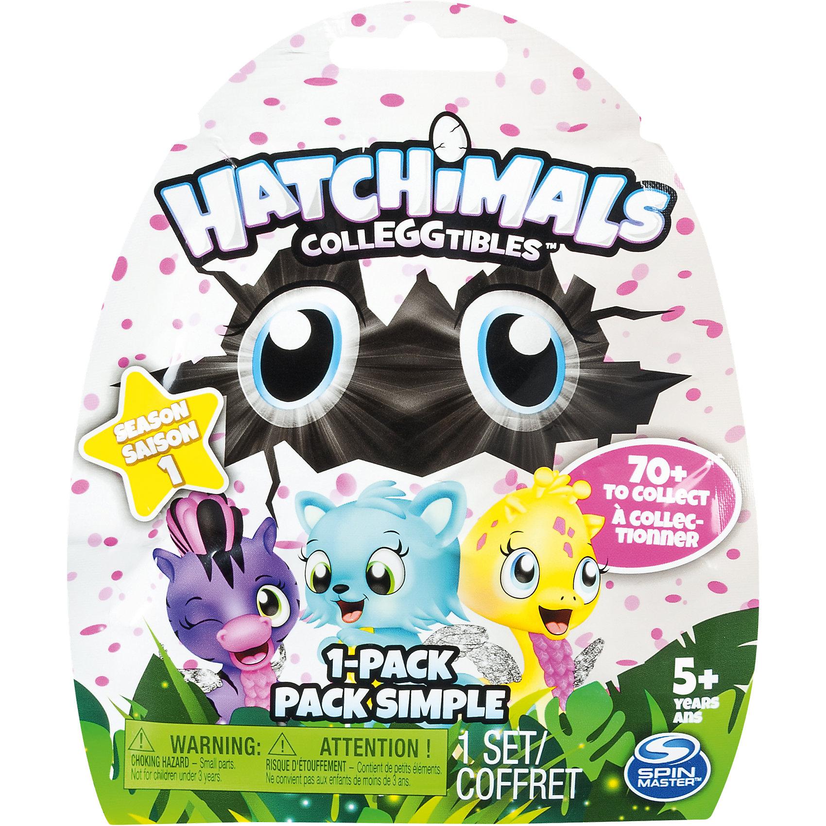 Коллекционная фигурка, HatchimalsМир животных<br>Характеристики товара:<br><br>• возраст: от 5 лет;<br>• материал: пластик;<br>• в комплекте: яйцо, фигурка, памятка;<br>• высота фигурки: 3,5 см;<br>• высота яйца: 4,2 см;<br>• размер упаковки: 11х15х4 см;<br>• вес упаковки: 25 гр.;<br>• страна производитель: Китай.<br><br>Коллекционная фигурка Hatchimals — забавный питомец, спрятанный в фиолетовой скорлупе с крапинками. Он ждет момента, когда же он наконец сможет вылупиться. <br><br>На скорлупе имеется фиолетовое сердечко, которое надо потереть, чтобы питомец вылупился из скорлупы. Сердечко меняет свой цвет на розовый, когда питомец уже готов появиться на свет. Надо только помочь ему и потянуть верхнюю часть скорлупы.<br><br>Игрушка упакована в непрозрачный пакет, и какой именно питомец достанется ребенку, будет для него сюрпризом. В коллекции более 70 зверьков. Памятка поможет ребенку разобраться во всей коллекции, категориях. В нее можно заносить информацию об уже имеющемся зверьке.<br><br>Коллекционную фигурку Hatchimals можно приобрести в нашем интернет-магазине.<br><br>Ширина мм: 149<br>Глубина мм: 116<br>Высота мм: 27<br>Вес г: 20<br>Возраст от месяцев: 36<br>Возраст до месяцев: 84<br>Пол: Унисекс<br>Возраст: Детский<br>SKU: 5149639
