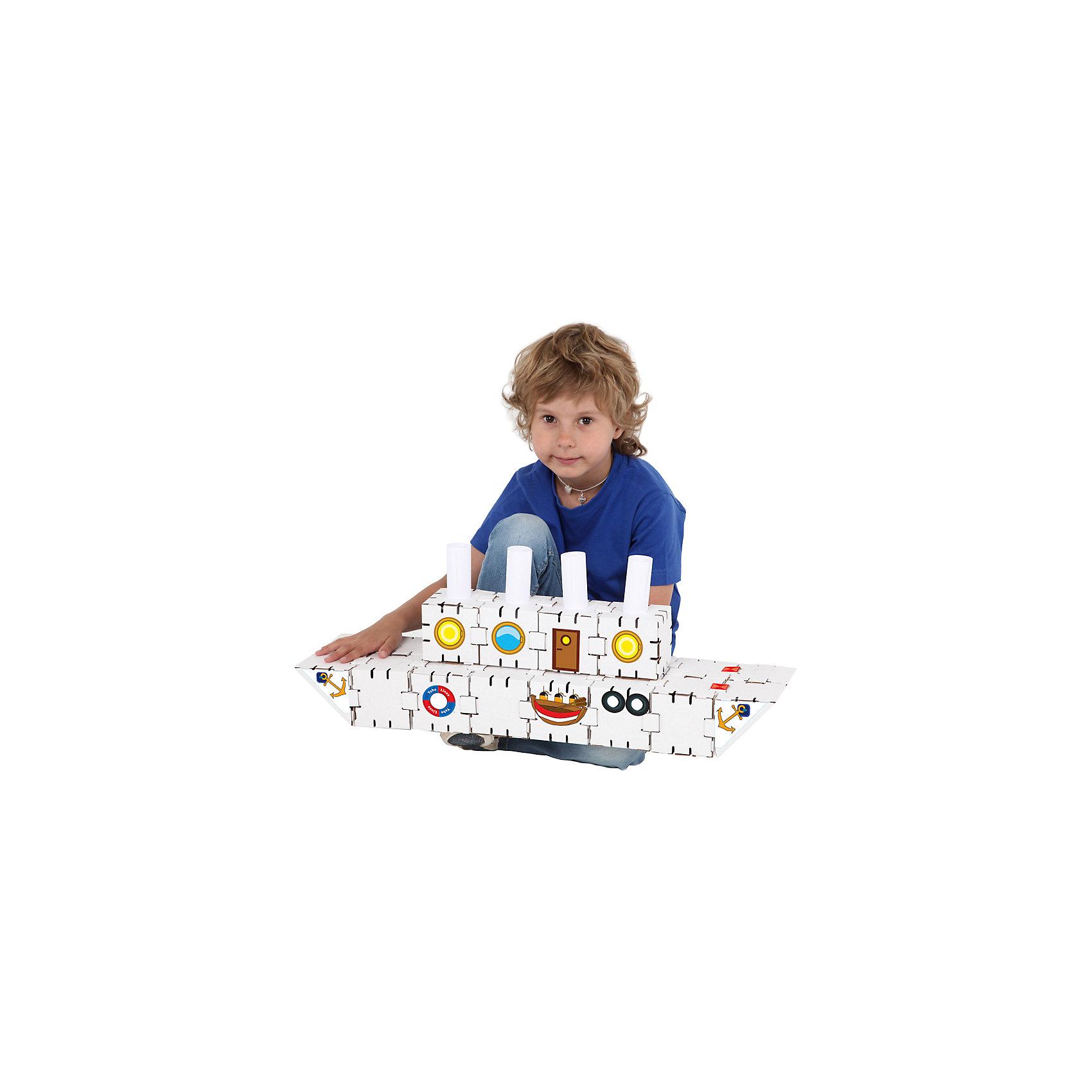 Картонный конструктор Титаник, YohocubeБренды конструкторов<br>Картонный конструктор Титаник, Yohocube (Йохокуб). <br><br>Характеристика:<br><br>• Материал: усиленный картон (1,5 мм). <br>• Размер упаковки: 37х31х5,5 см. <br>• Размер одного кубика: 8 см. <br>• 20 деталей. <br>• Оригинальный дизайн. <br>• Развивает моторику рук, внимание, пространственное мышление и воображение. <br><br>С помощью этого оригинального конструктора ребенок сможет собрать роскошный корабль. Размер кубиков идеально подходит для детских рук. Простые и удобные крепления позволят ребенку собирать конструктор без помощи взрослых. Все детали изготовлены из высококачественного прочного картона с применением нетоксичных безопасных красителей. Игры с конструктором полезное и очень увлекательное занятие, развивающее внимание, мелкую моторику, пространственное мышление и воображение. <br><br>Картонный конструктор Титаник, Yohocube (Йохокуб), можно купить в нашем интернет-магазине.<br><br>Ширина мм: 370<br>Глубина мм: 310<br>Высота мм: 55<br>Вес г: 620<br>Возраст от месяцев: 72<br>Возраст до месяцев: 144<br>Пол: Унисекс<br>Возраст: Детский<br>SKU: 5154035